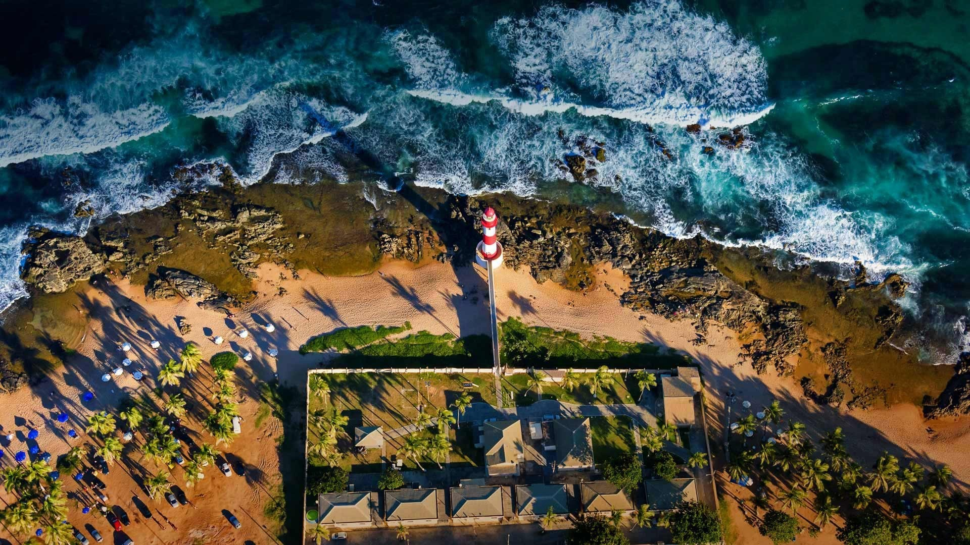 1920x1080 lighthouse, El Salvador, Aerial view, Sea Wallpapers HD / Desktop and  Mobile Backgrounds