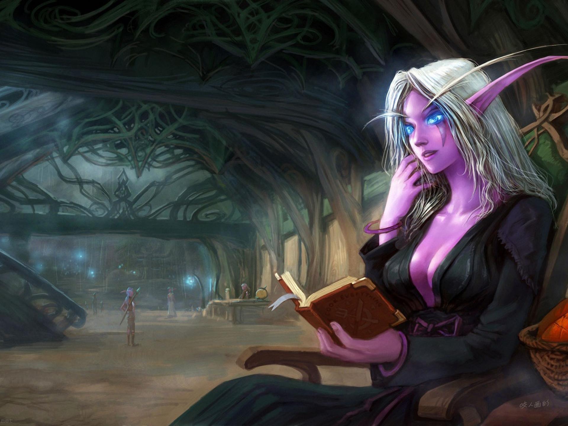Fantasy Art Dark Elf Female