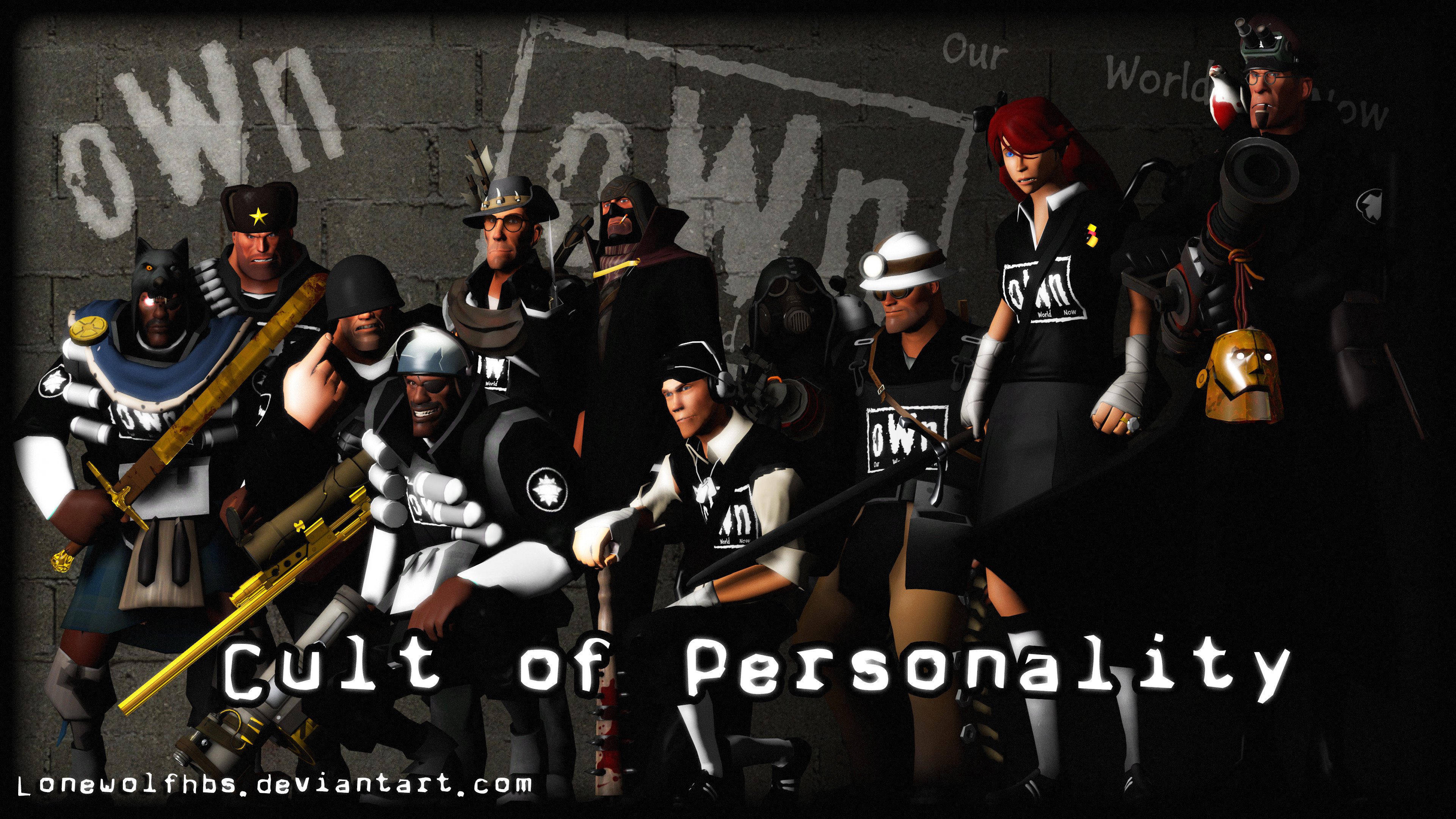 3840x2160 ... TF2 Cult of Personality - oWn Wallpaper by LoneWolfHBS