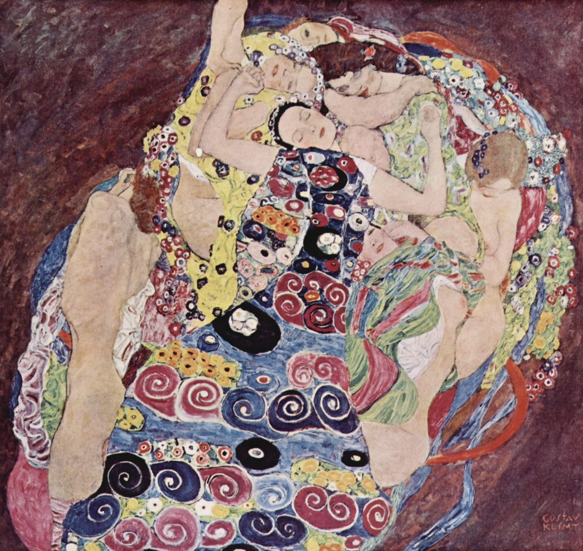 2024x1913 Painting of Gustav Klimt - Woman night
