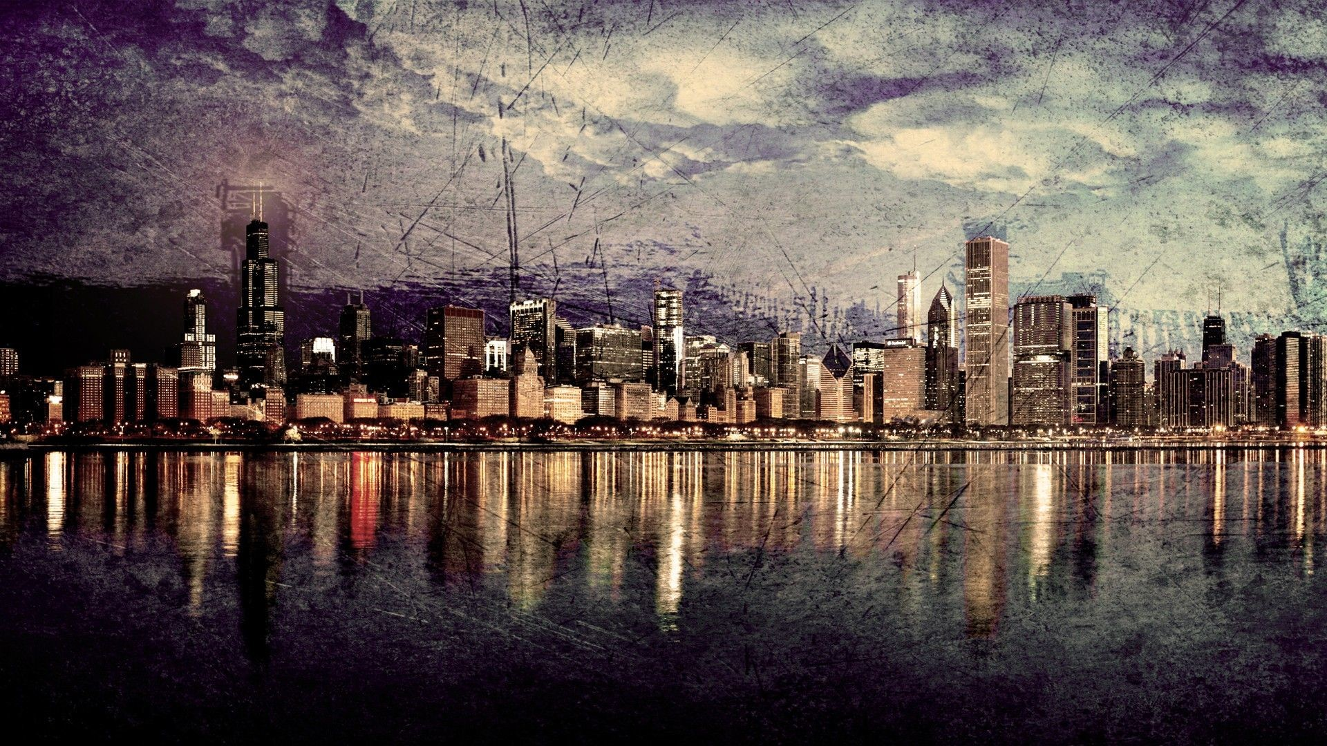 1920x1080 wallpaper.wiki-Chicago-Skyline-Images-HD-PIC-WPE0010007