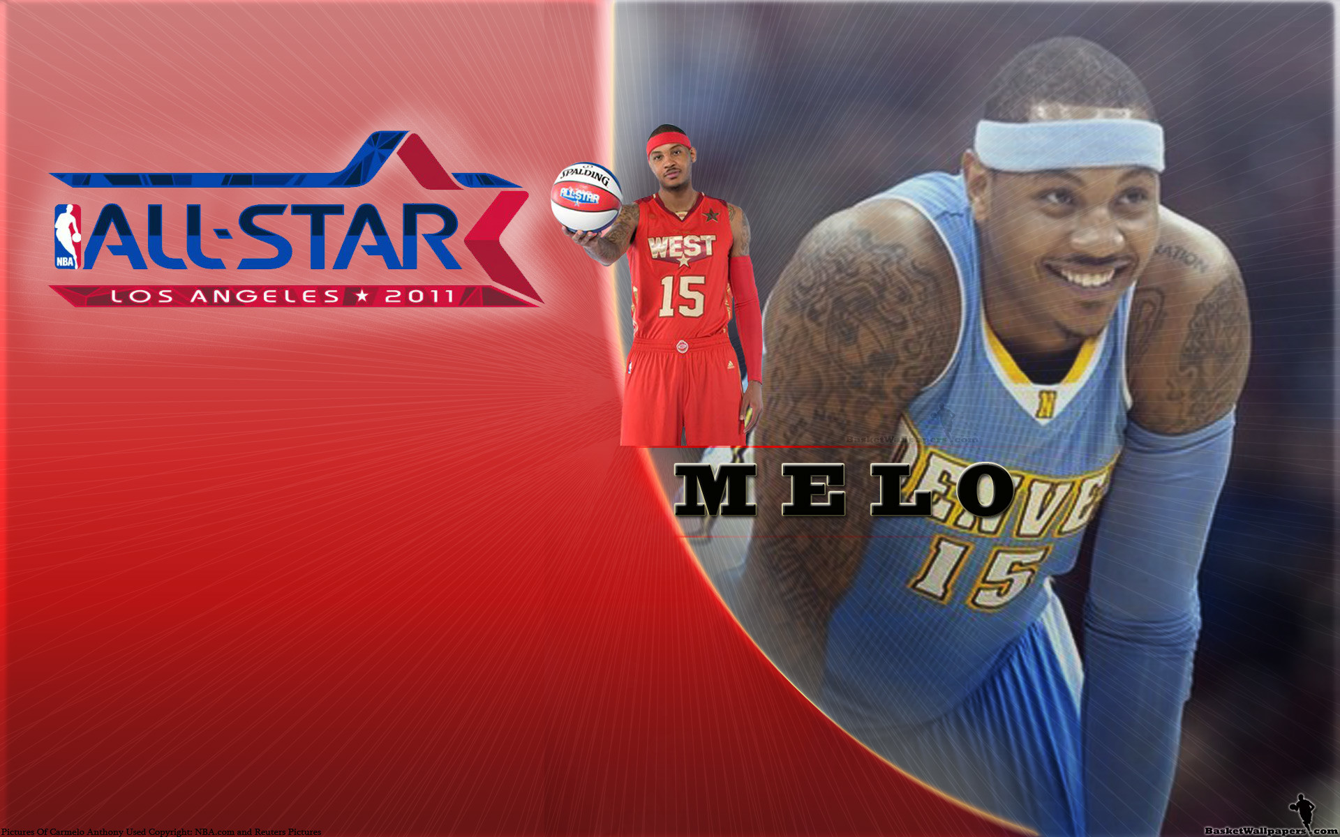 1920x1200 Carmelo Anthony All-Star 2011 Widescreen Wallpaper