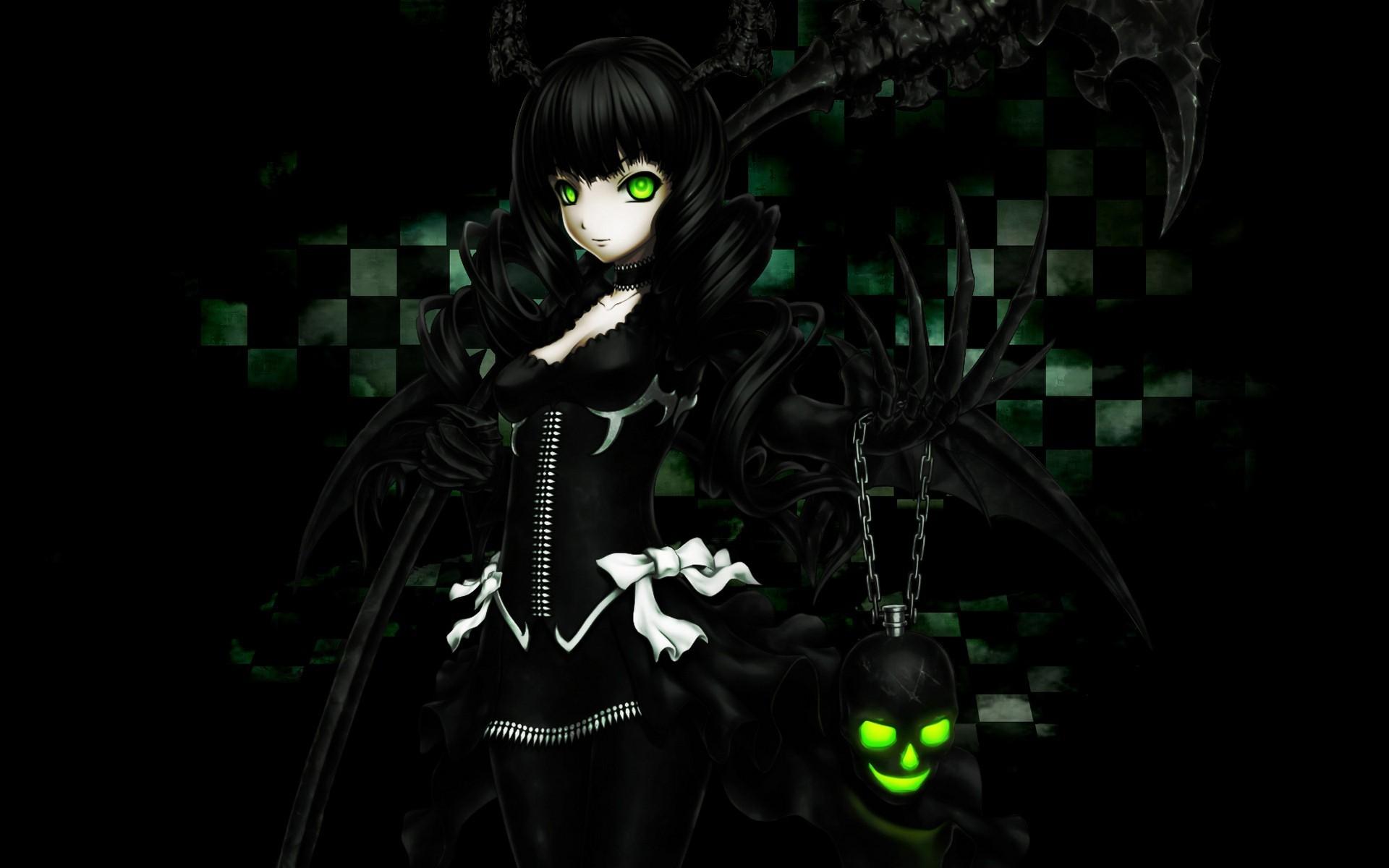 Anime gamer girl wallpaper 73 images - Anime wallpaper black background ...