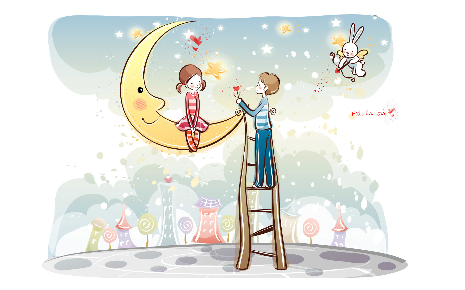 1920x1200 young-love--valentine-cute-couple-illustrations-love-rainbow--valentine -couple-valentines-day-illustrations-97516.jpg (640×400) | Pinterest |  Couple ...