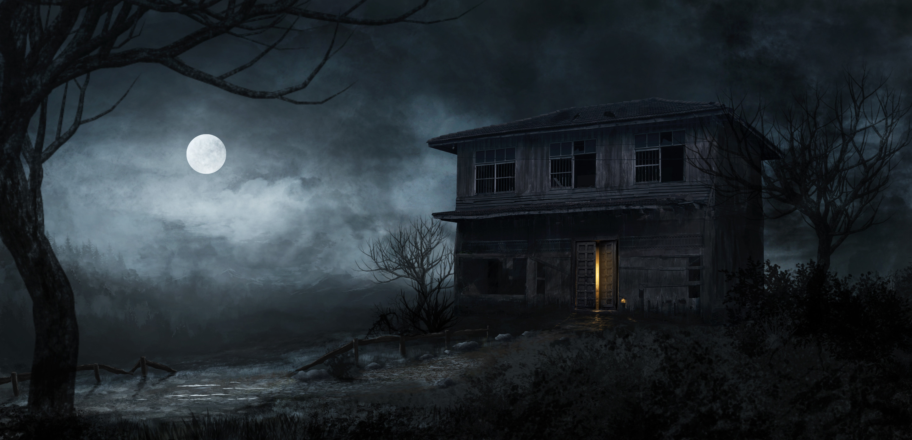 2900x1400 HD Wallpaper | Background ID:727283.  Dark Haunted