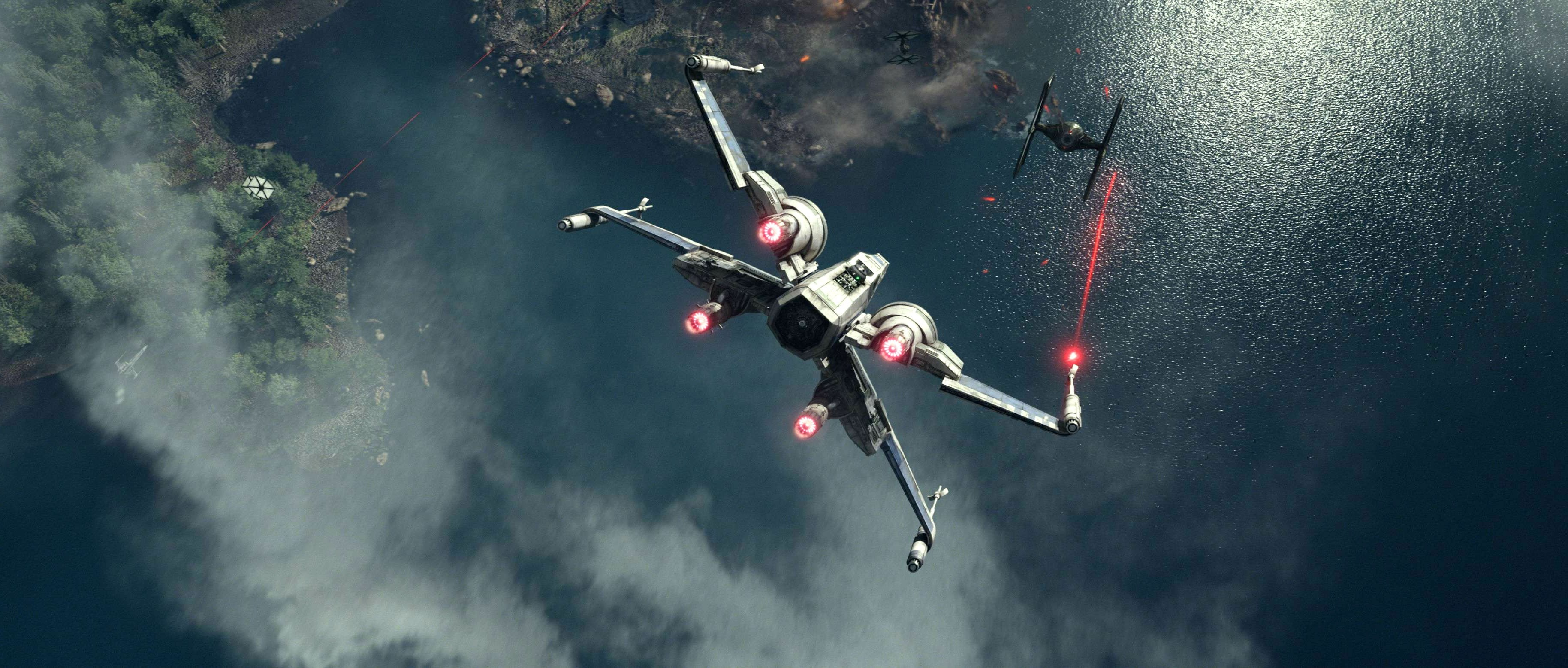 3656x1556 STAR WARS FORCE AWAKENS sci-fi futuristic disney 1star-wars-force-awakens  action adventure spaceship battle wallpaper |  | 821384 |  WallpaperUP