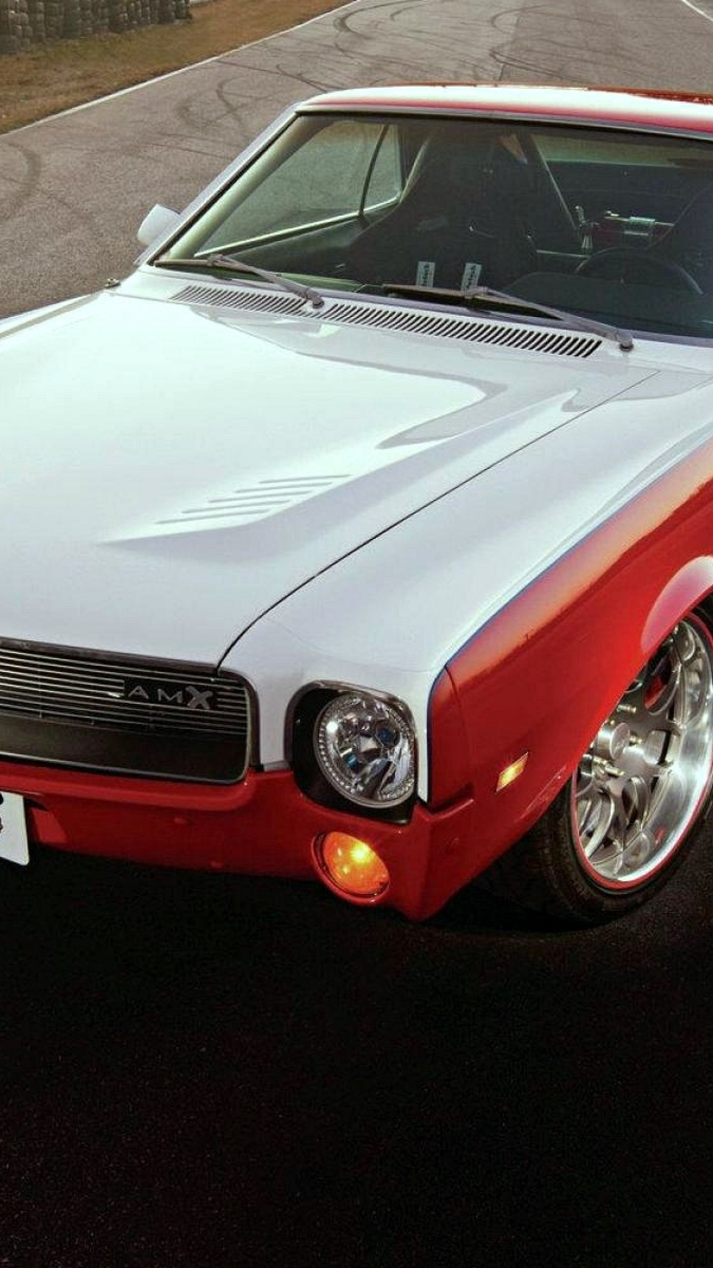 1440x2560  Wallpaper 1969 amc amx, american muscle car, style, retro