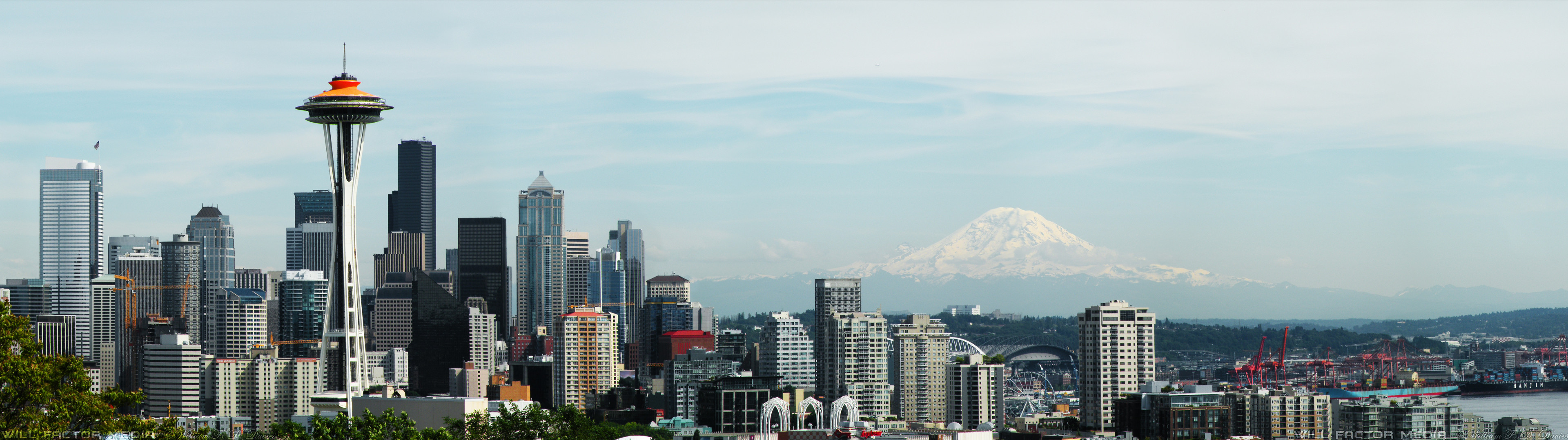 3840x1080 ... Dual Monitor () Seattle Wallpaper by WillFactorMedia