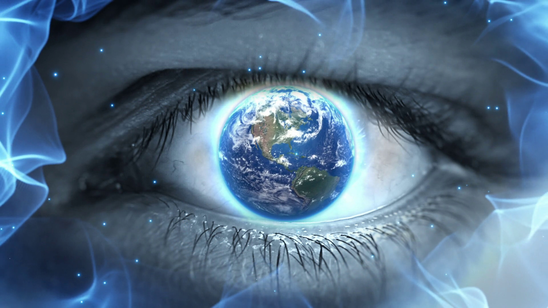 1920x1080 Planet Earth in the Eye Iris Weird Fantasy Science Fiction Seamless Looping  Motion Background 1080p Full HD Motion Background - Storyblocks Video