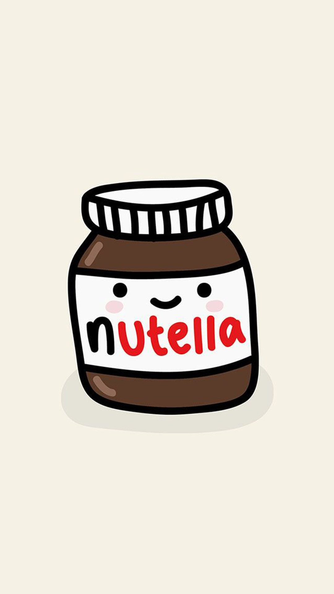 Res: 1080x1920, Cute Nutella Jar Illustration Android Wallpaper ...