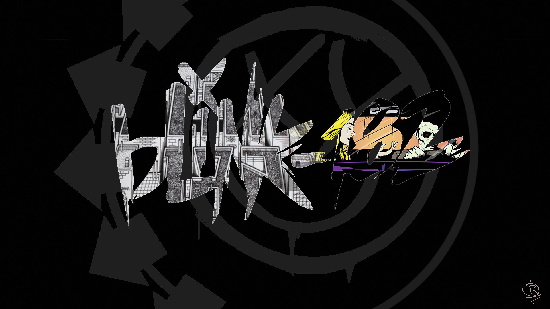 1920x1080 ... Blink-182 Neighborhoods and California Logo. by SebastianR115