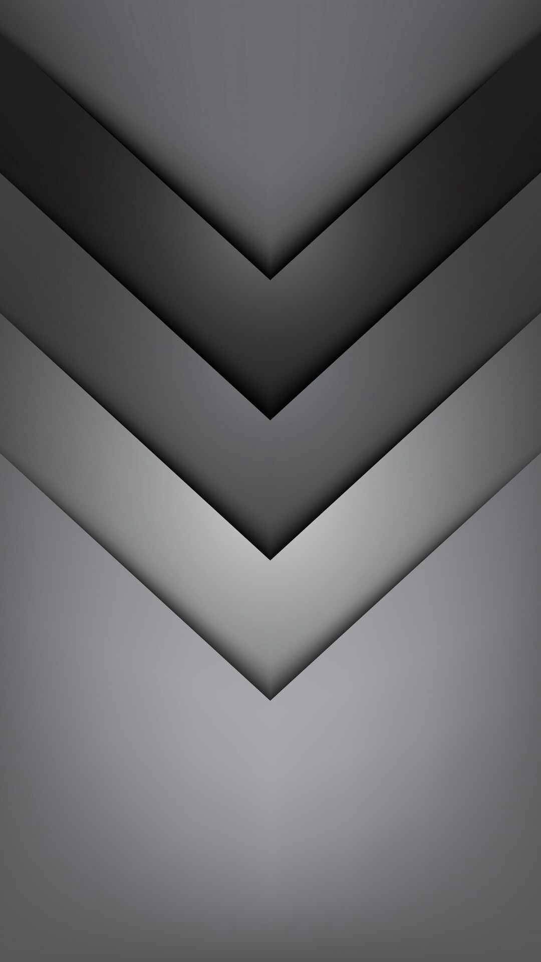 1080x1920 Gradient Grey Chevron Wallpaper