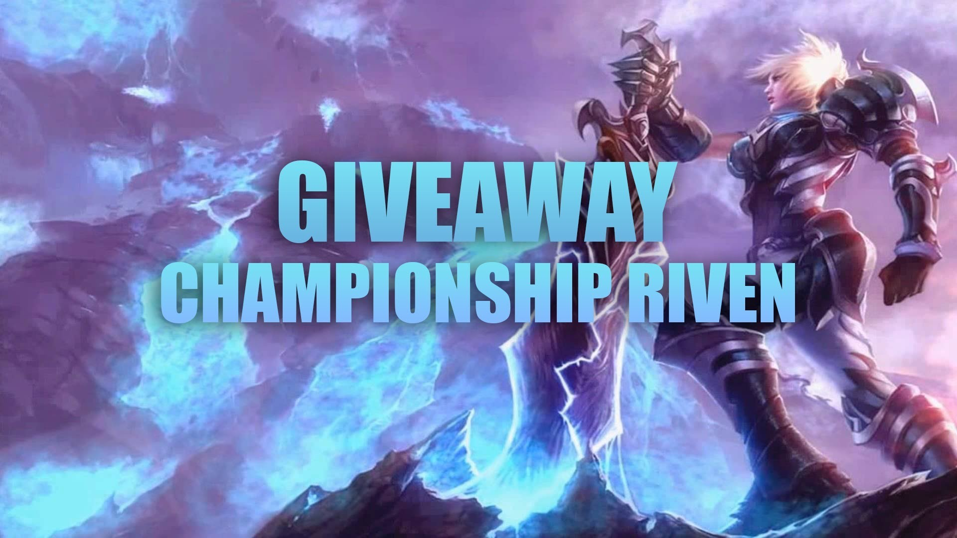 1920x1080 Free Championship Riven skin giveaway ! [Finished] [League Of Legends] -  YouTube