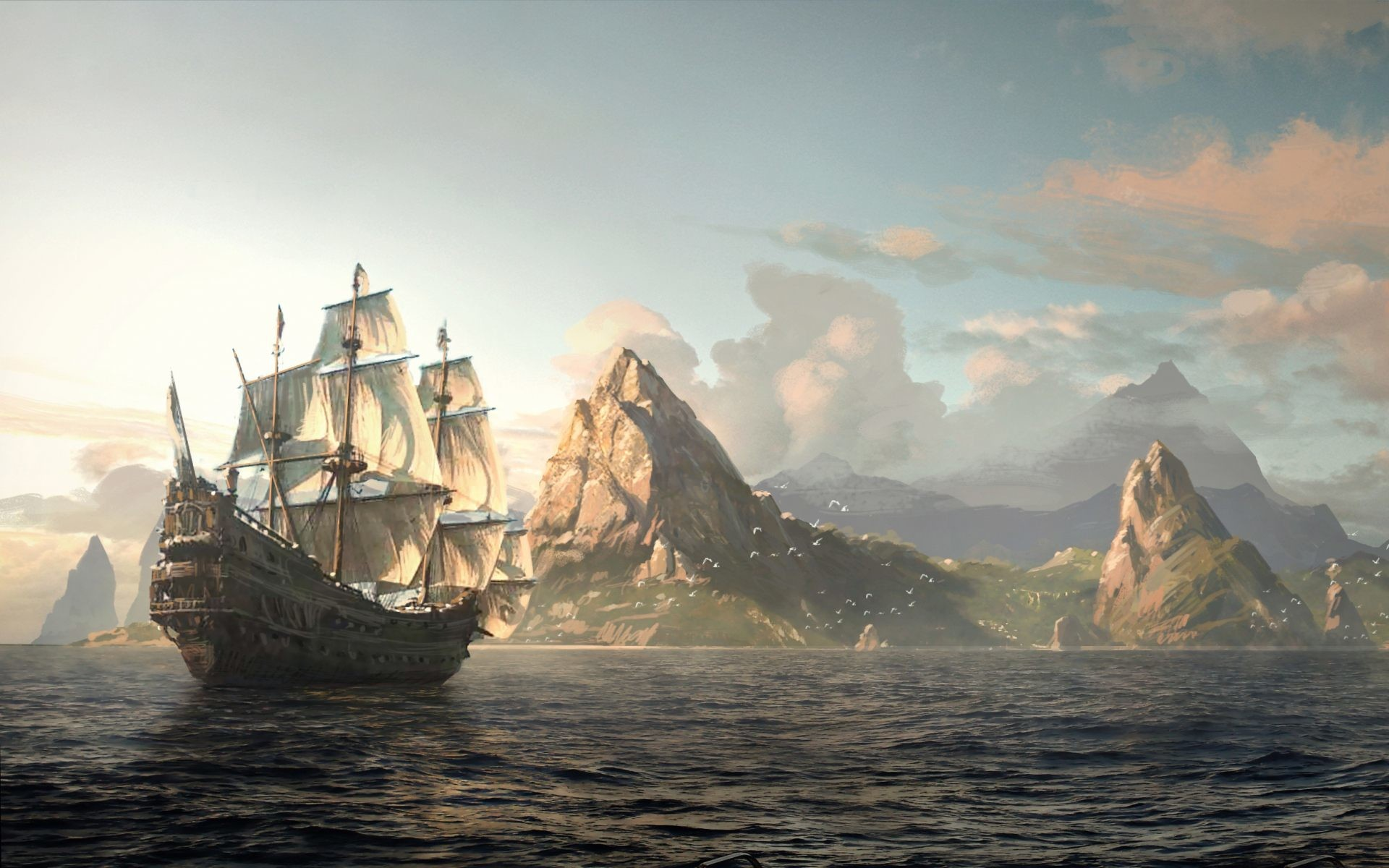 1920x1200 ... Ghost Pirate Ship Wallpaper Background Ship Vintage And 1920 1200