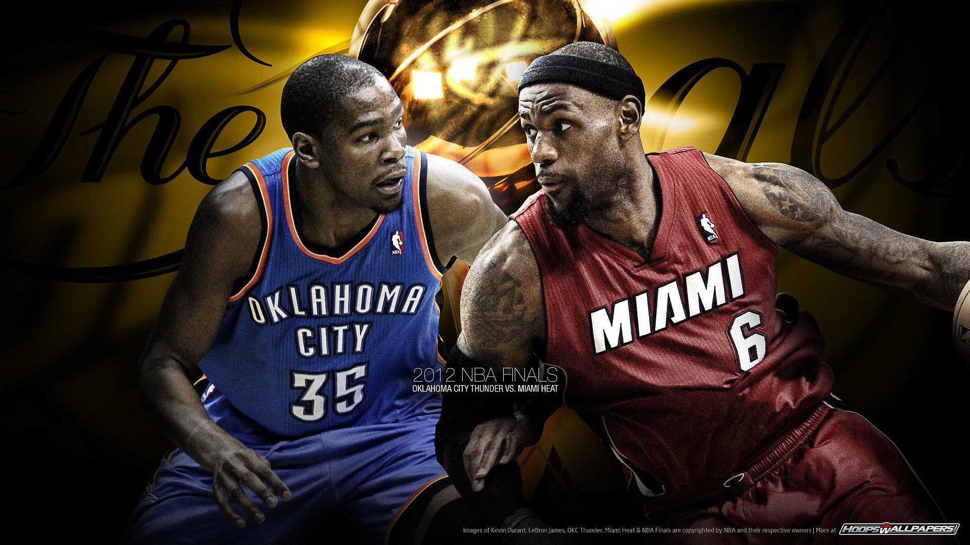 1920x1080 Kevin Durant (Oklahoma City Thunder) vs Lebron James (Miami Heat)
