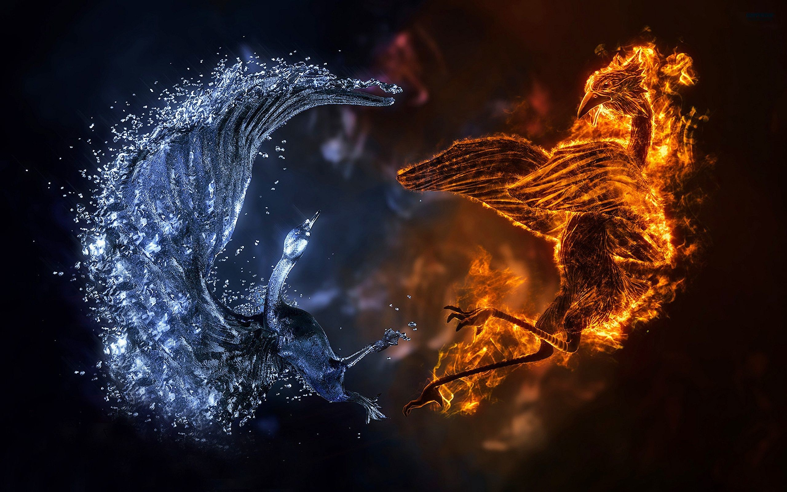 2560x1600 Fire And Ice Wallpapers Abstract 3d wallpaper f... fire and ice