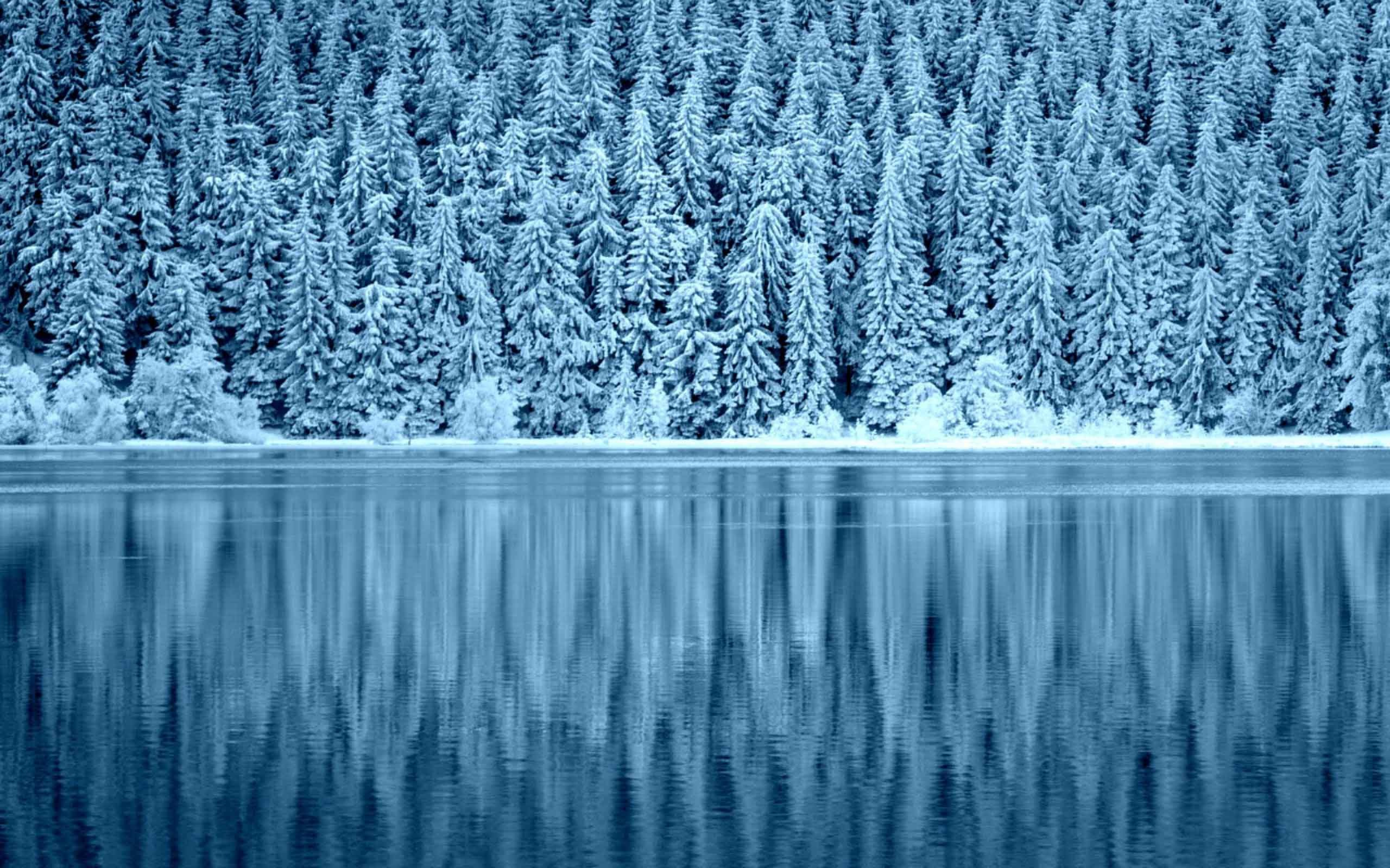 2560x1600 Lakes Winter Landscape Nature Snow Wallpaper HD For Desktop Widescreen Free  Download