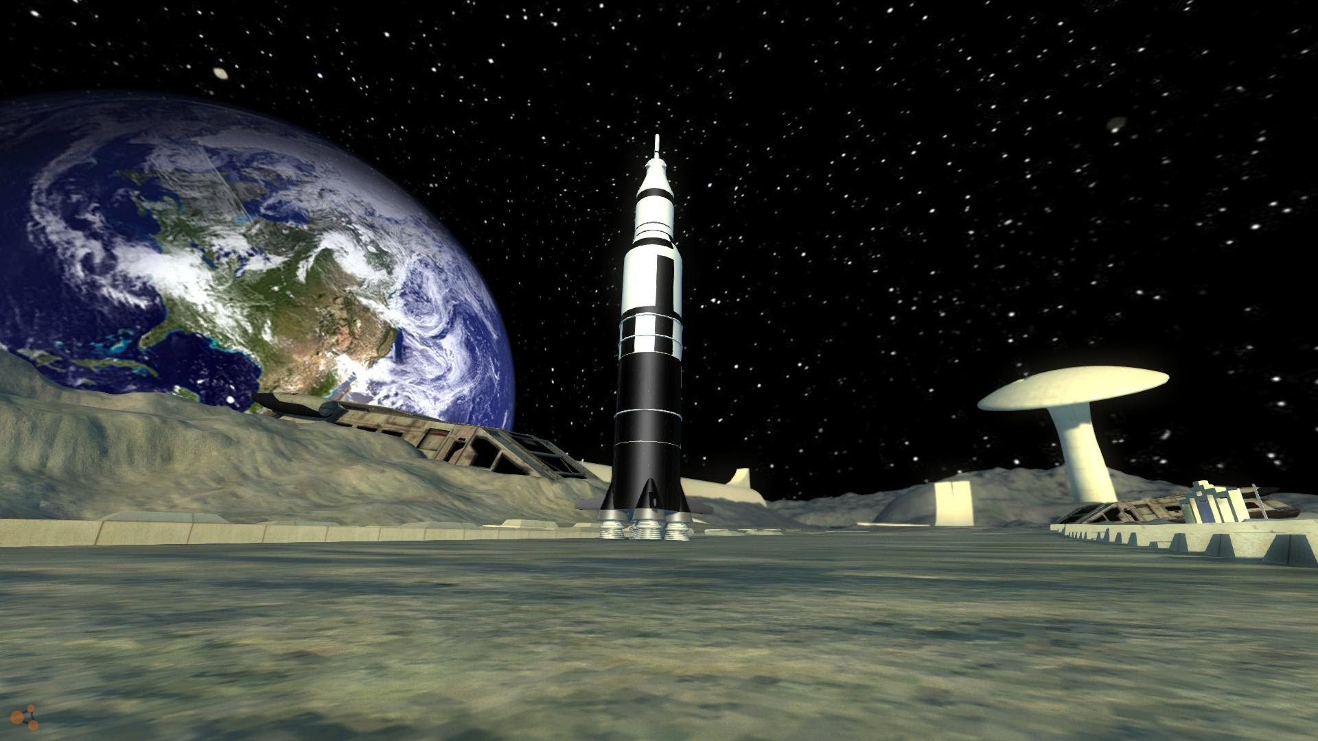 1920x1080 BeamNG Drive The DSC Saturn V Rocket
