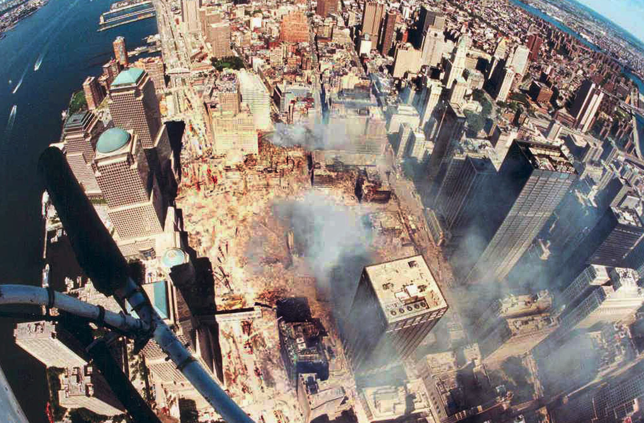 the attack on the two towers during the september of 2001 9/11 attack on new york's world trade towers sep 11 two passenger planes hijacked by terrorists crash into new york's world trade towers causing the collapse of both and deaths of 2,752 people more.