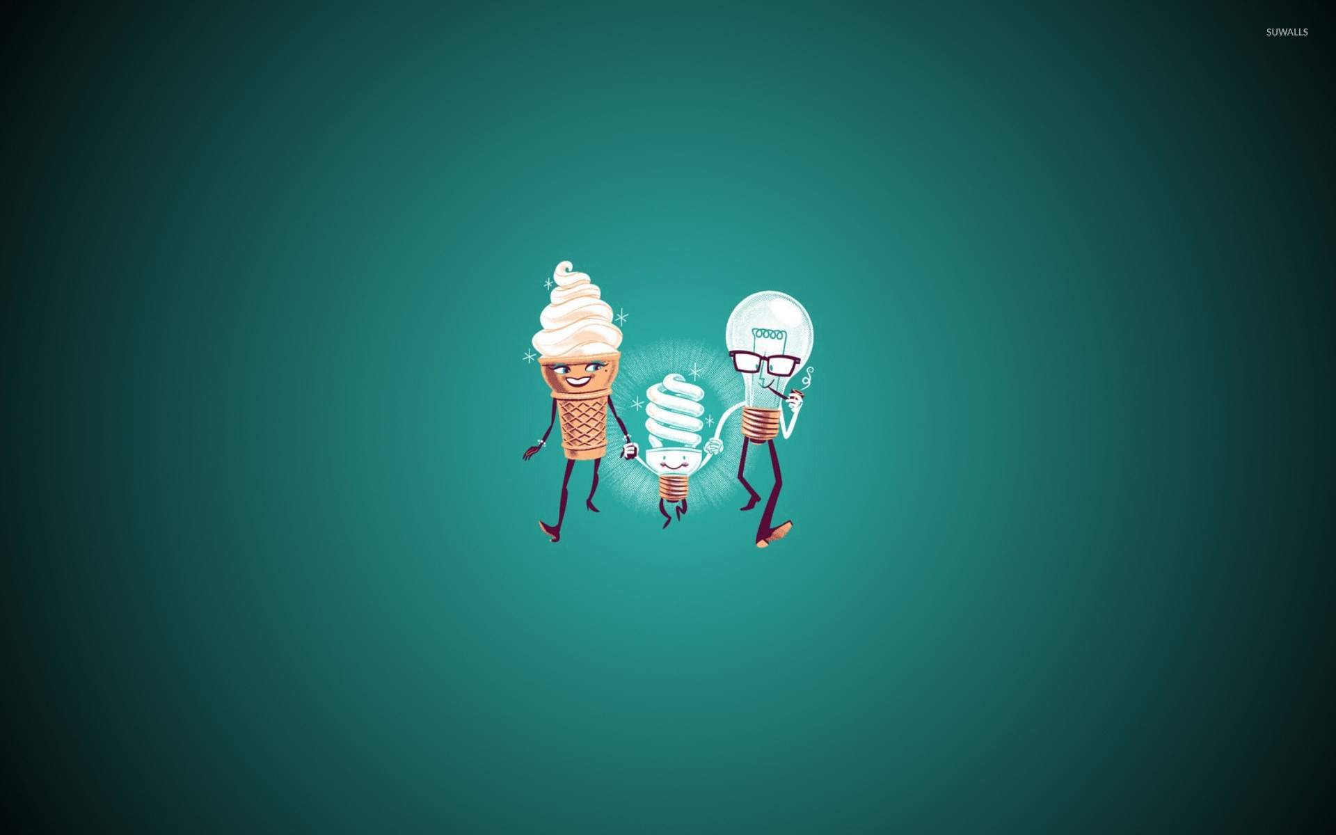1920x1200 Ice cream and bulb family wallpaper