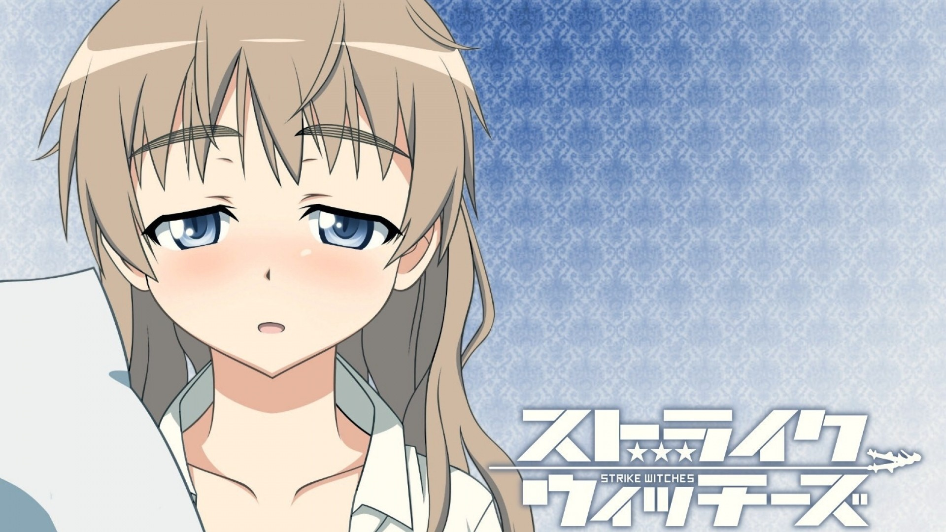 1920x1080  Wallpaper strike witches, lynette bishop, girl, bangs, sadness