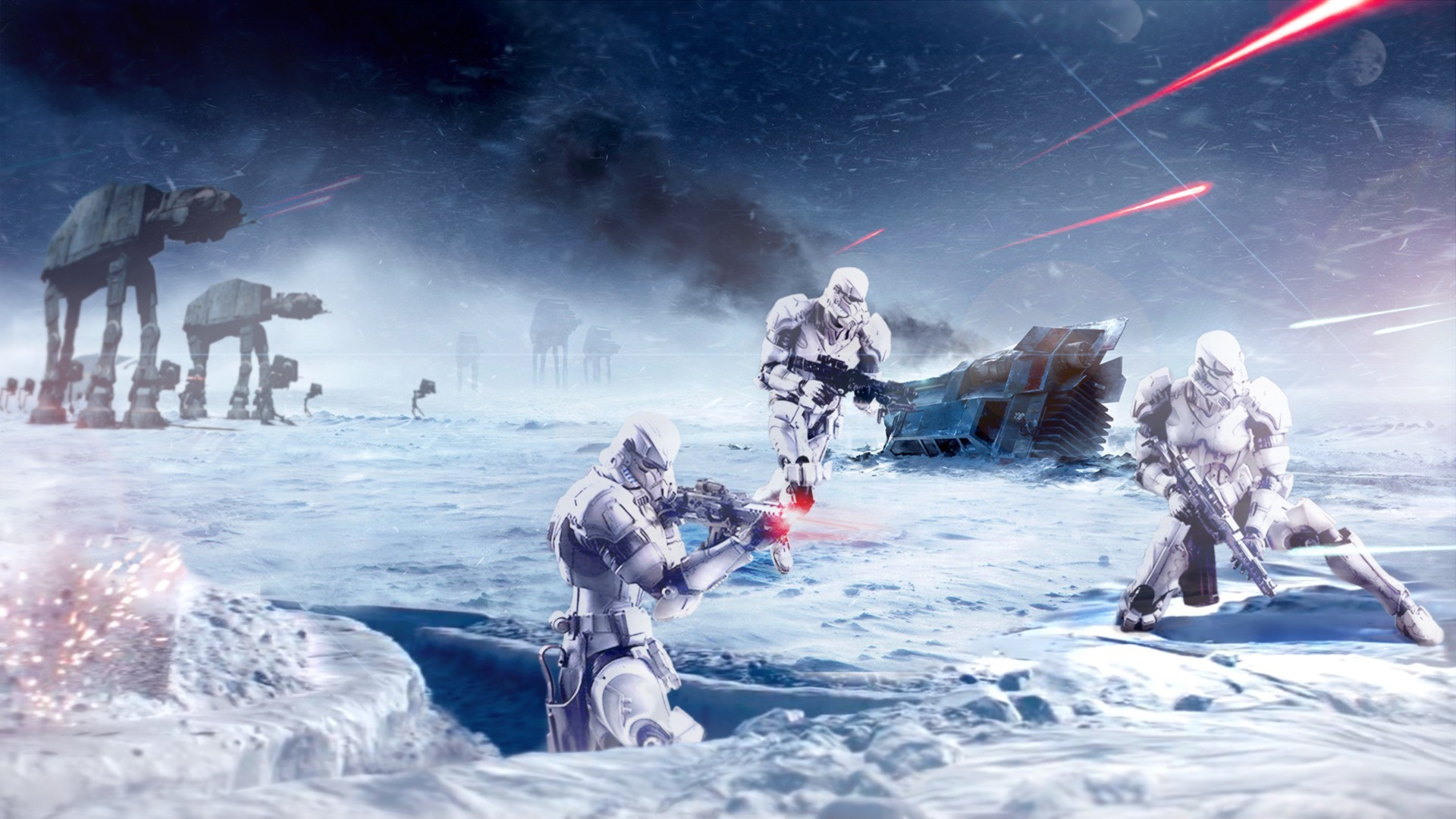 1920x1080 General  Star Wars stormtrooper Hoth Galactic Empire snow