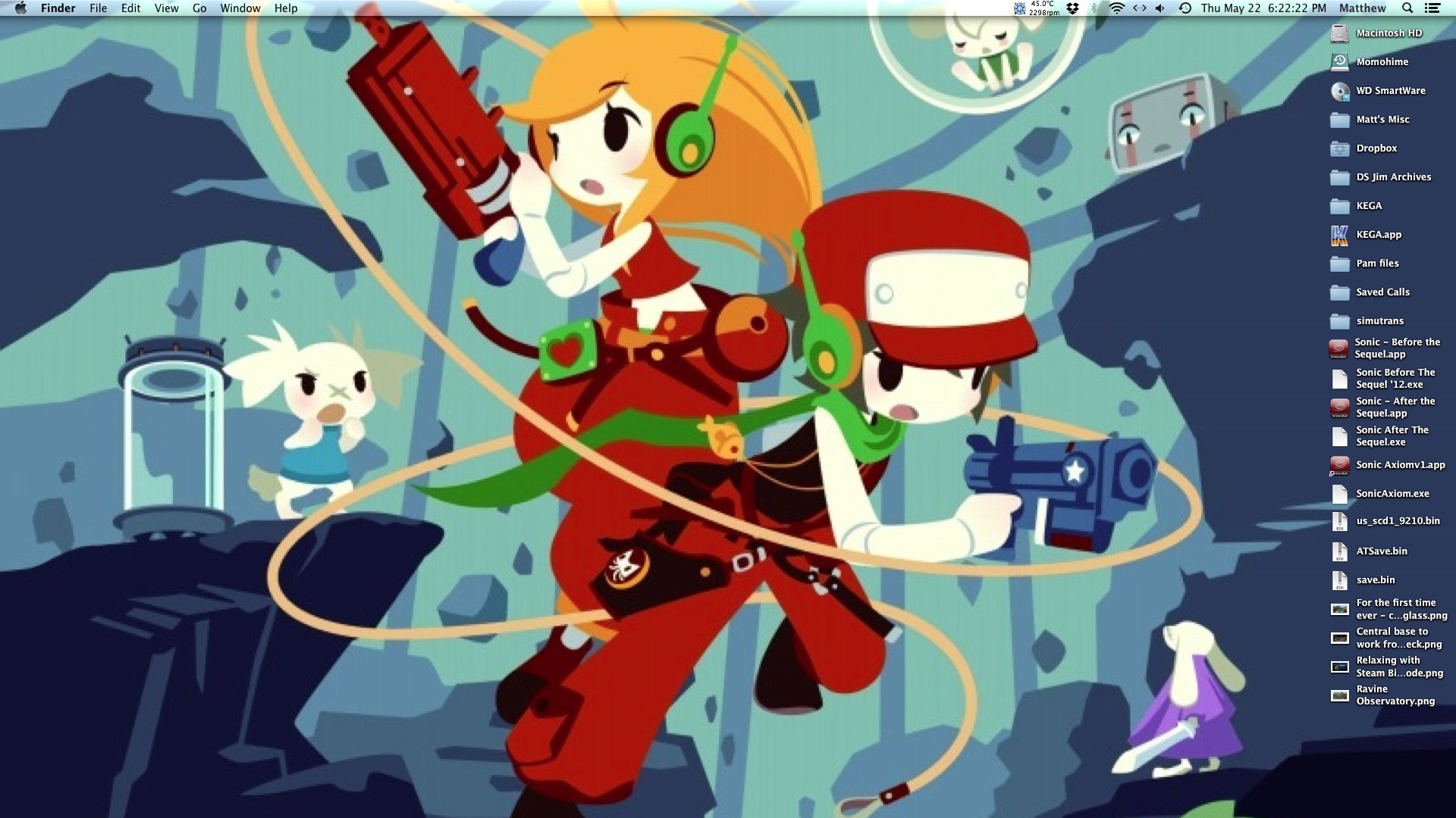 1920x1080 ... Video The Lone Wolf Blog Current Mac wallpaper Cave Story ...