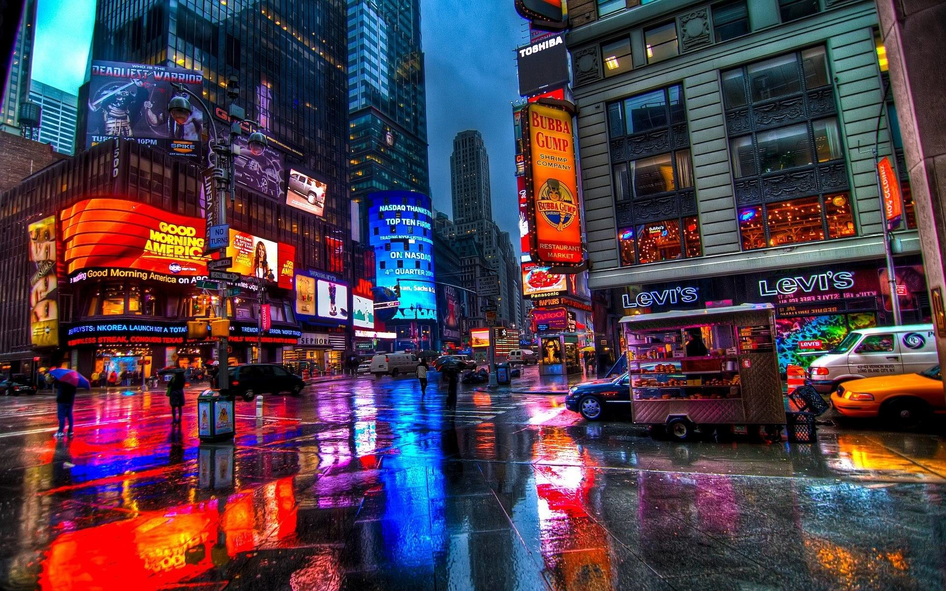 1920x1200 Billboards, Times Square, New York City widescreen wallpaper 1920×1200  Times Square Wallpapers