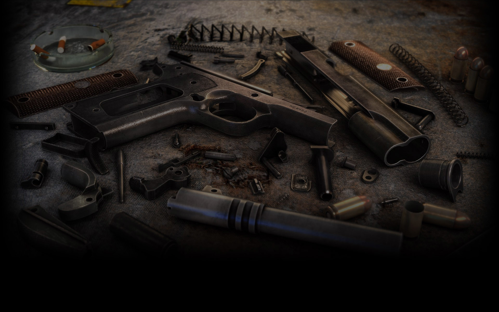 1920x1200 ... Disassembly Profile Background. Disassembled Colt M1911. View Full Size