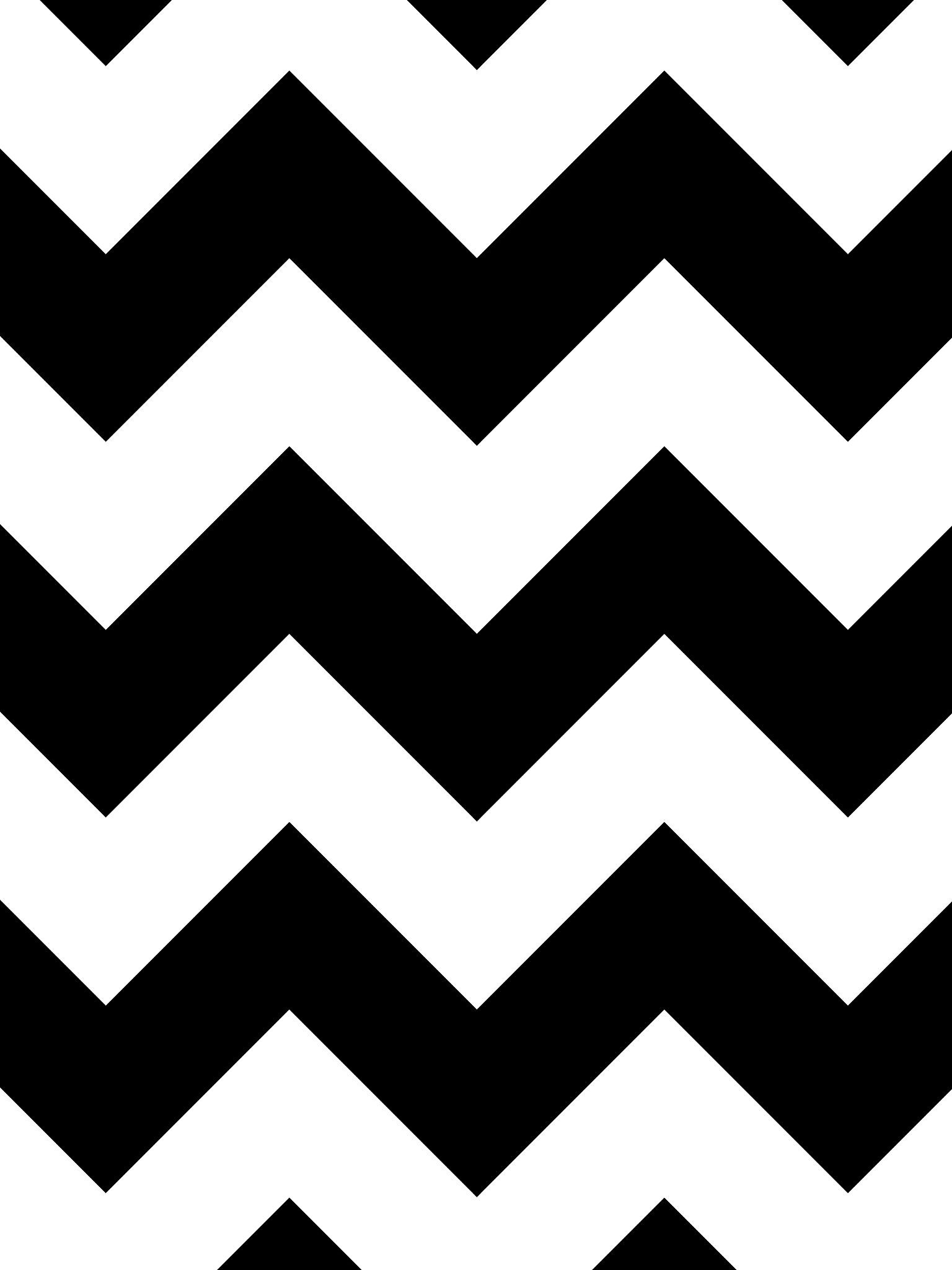 1536x2048 Chevron iPad Air 2 Wallpaper – Black White