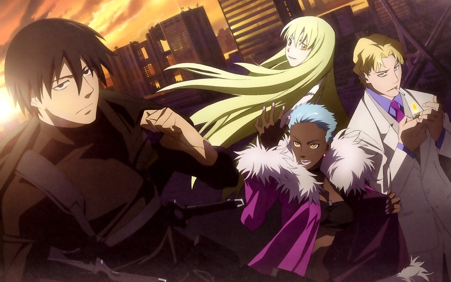 1920x1200 Darker than BLACK - Kuro no Keiyakusha