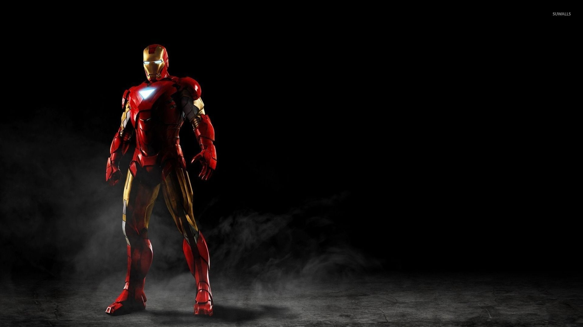 1920x1080 Iron Man standing in the smoke wallpaper  jpg