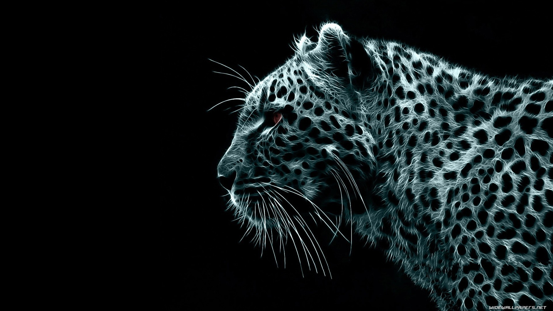 1920x1080 ... by Resolution: 340x192 - 640x360 - . Download cool digital  wallpaper having tiger and black background.