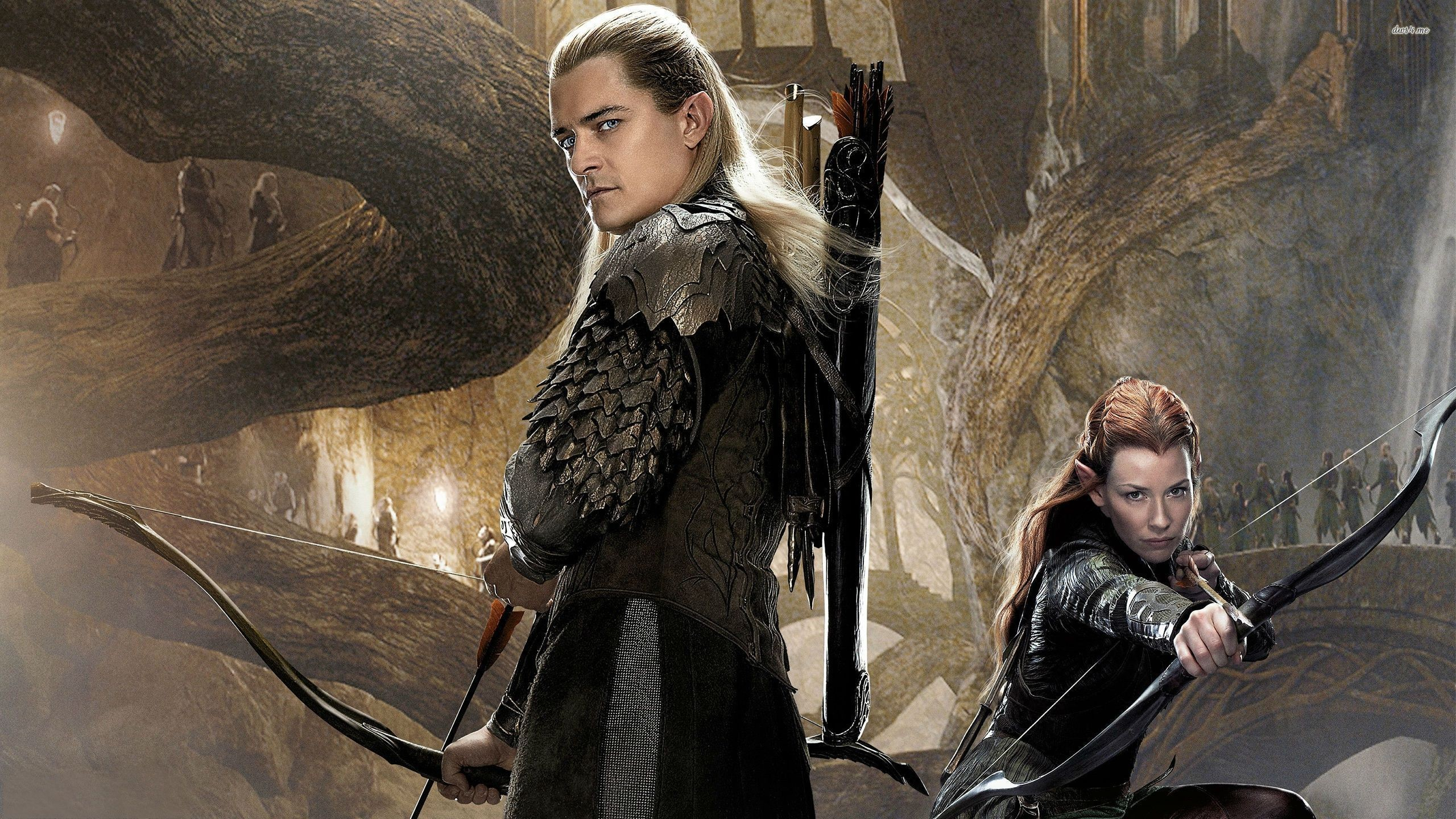 2560x1440 ... Legolas and Tauriel - The Hobbit - The Desolation of Smaug wallpaper   ...