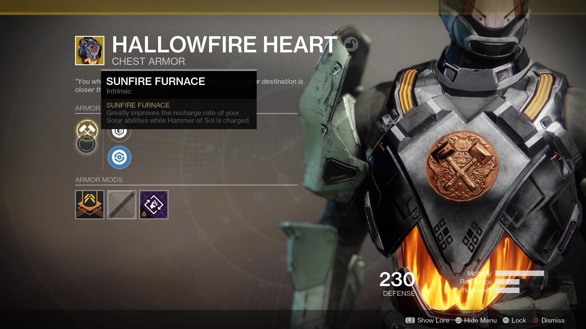 1920x1080 This ironclad chest piece is designed for Sunbreaker Titans. Although it  requires you to pay detailed attention to the availability of your  abilities, ...