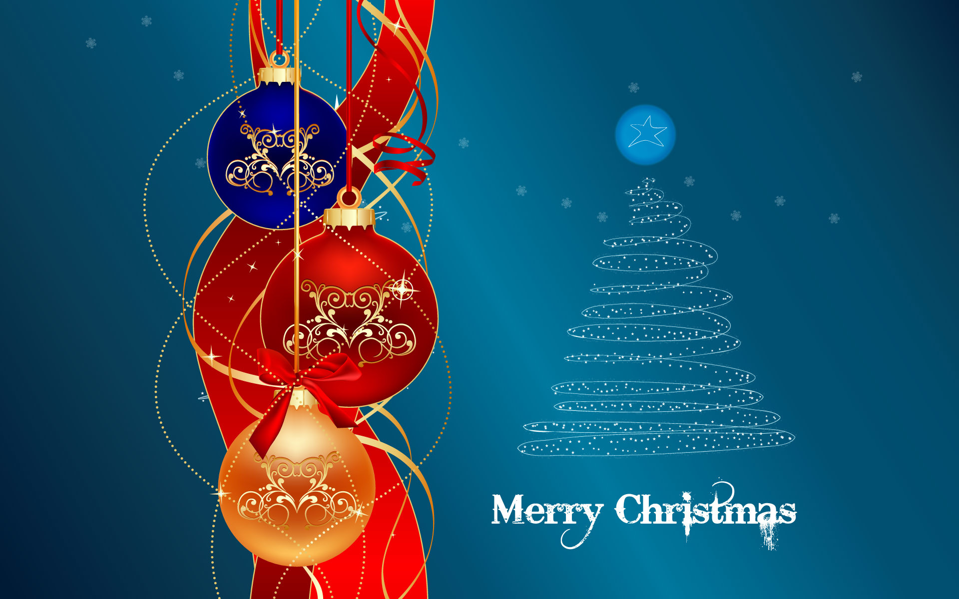 1920x1200 mas tree merry christmas wallpaper with decorated christmas tree in .