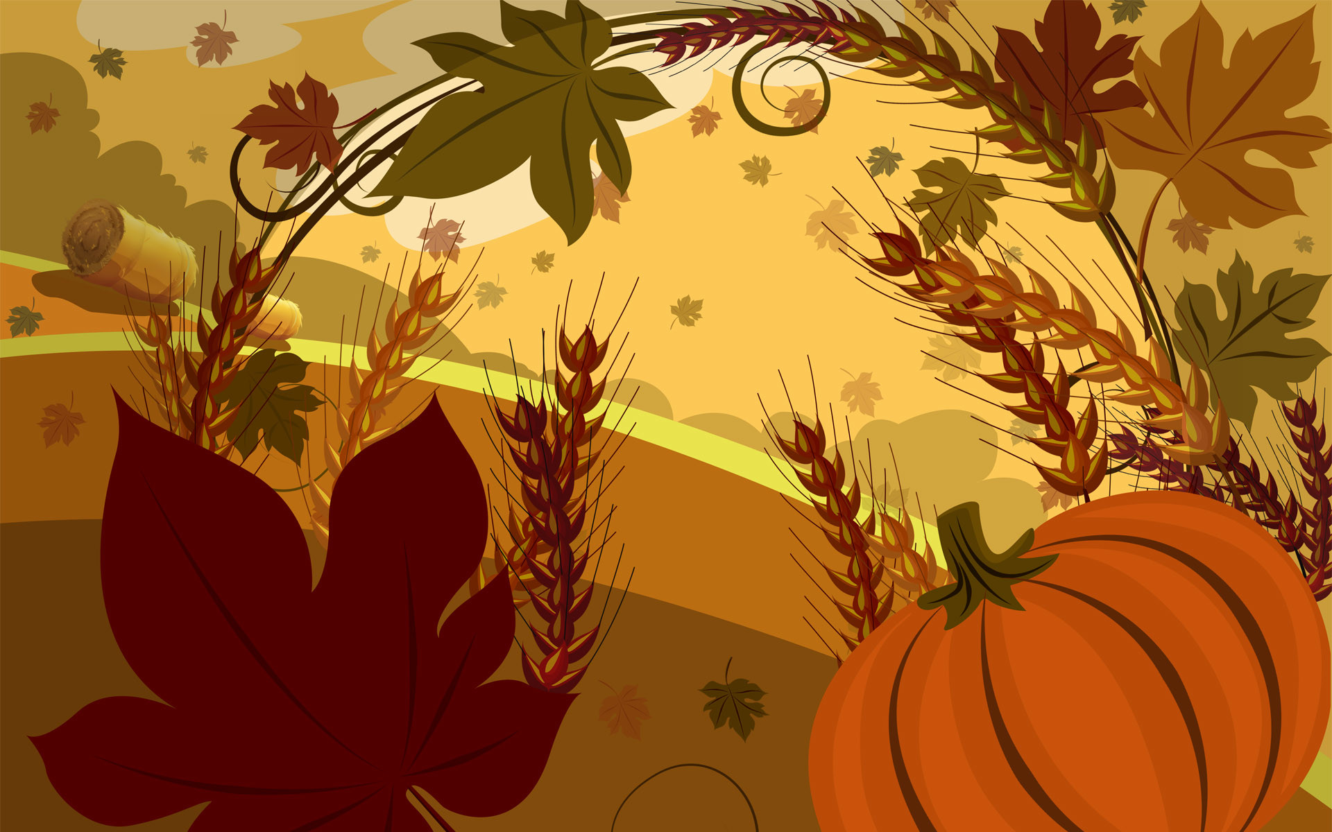 1920x1200 Cute Thanksgiving Wallpapers.