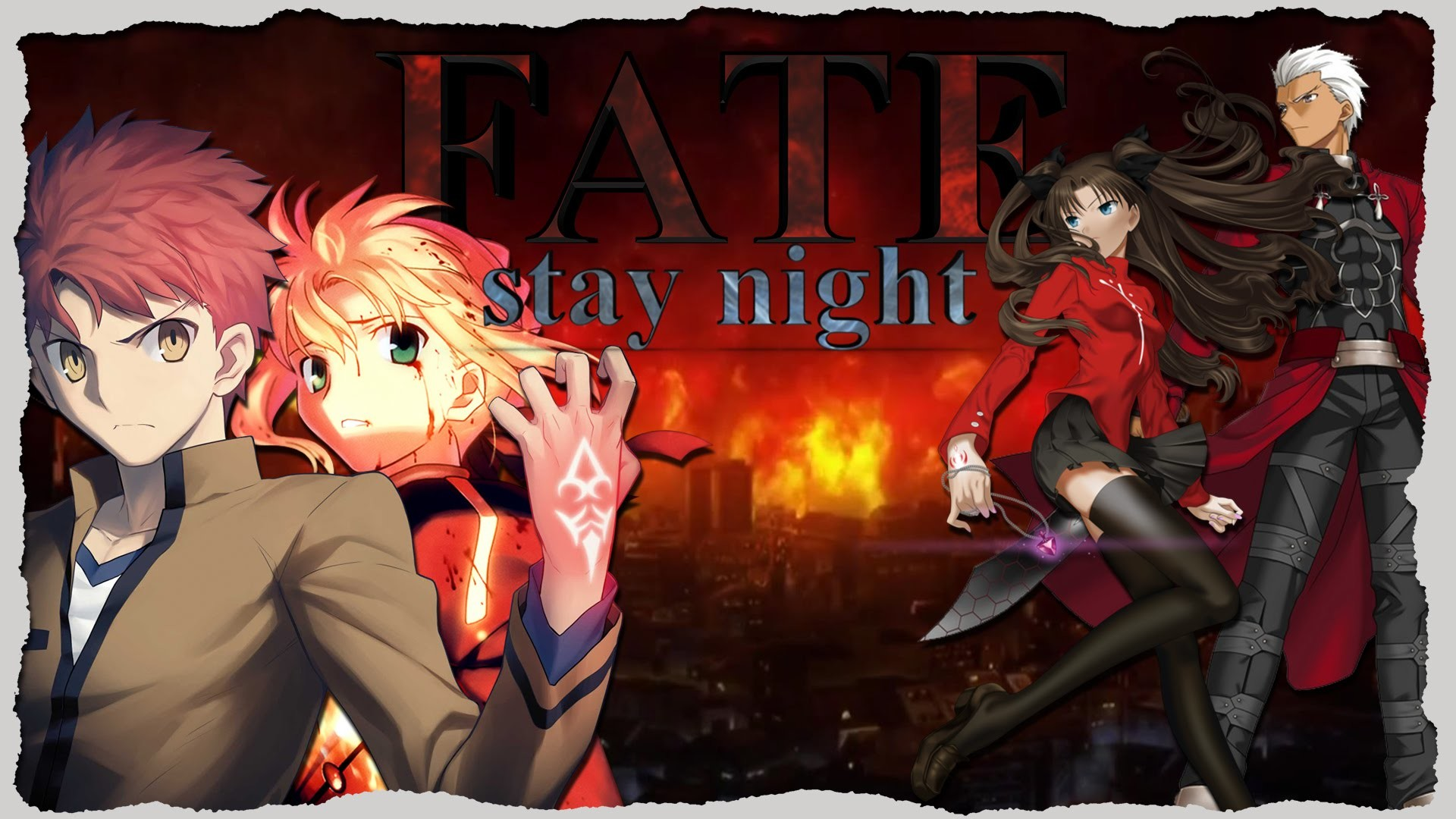 1920x1080 ☆ [AMV] ☆ Fate/stay night: Unlimited Blade Works - Crossing Fates [Part 1]  - YouTube