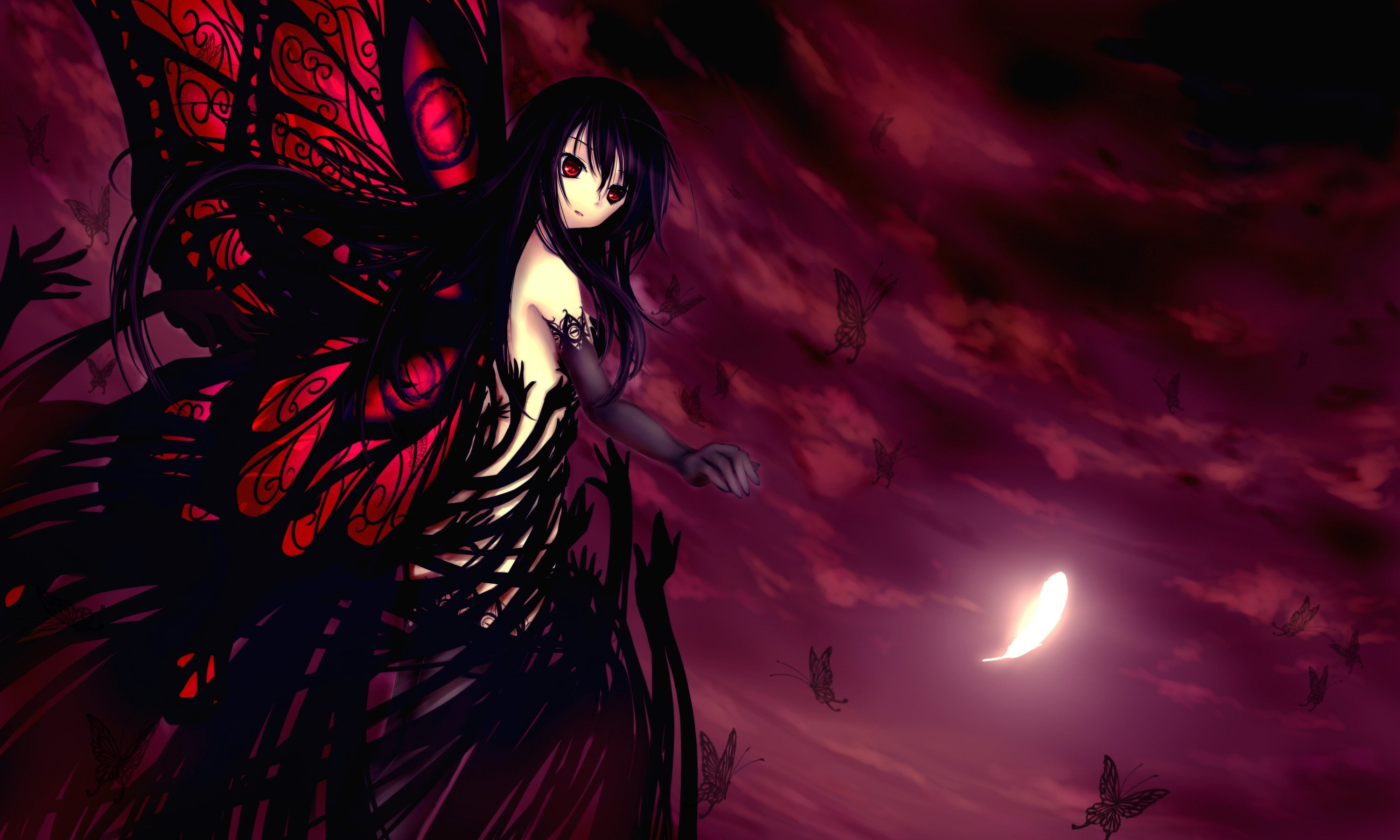3000x1800 Wallpaper Fallen angel. angel. demon