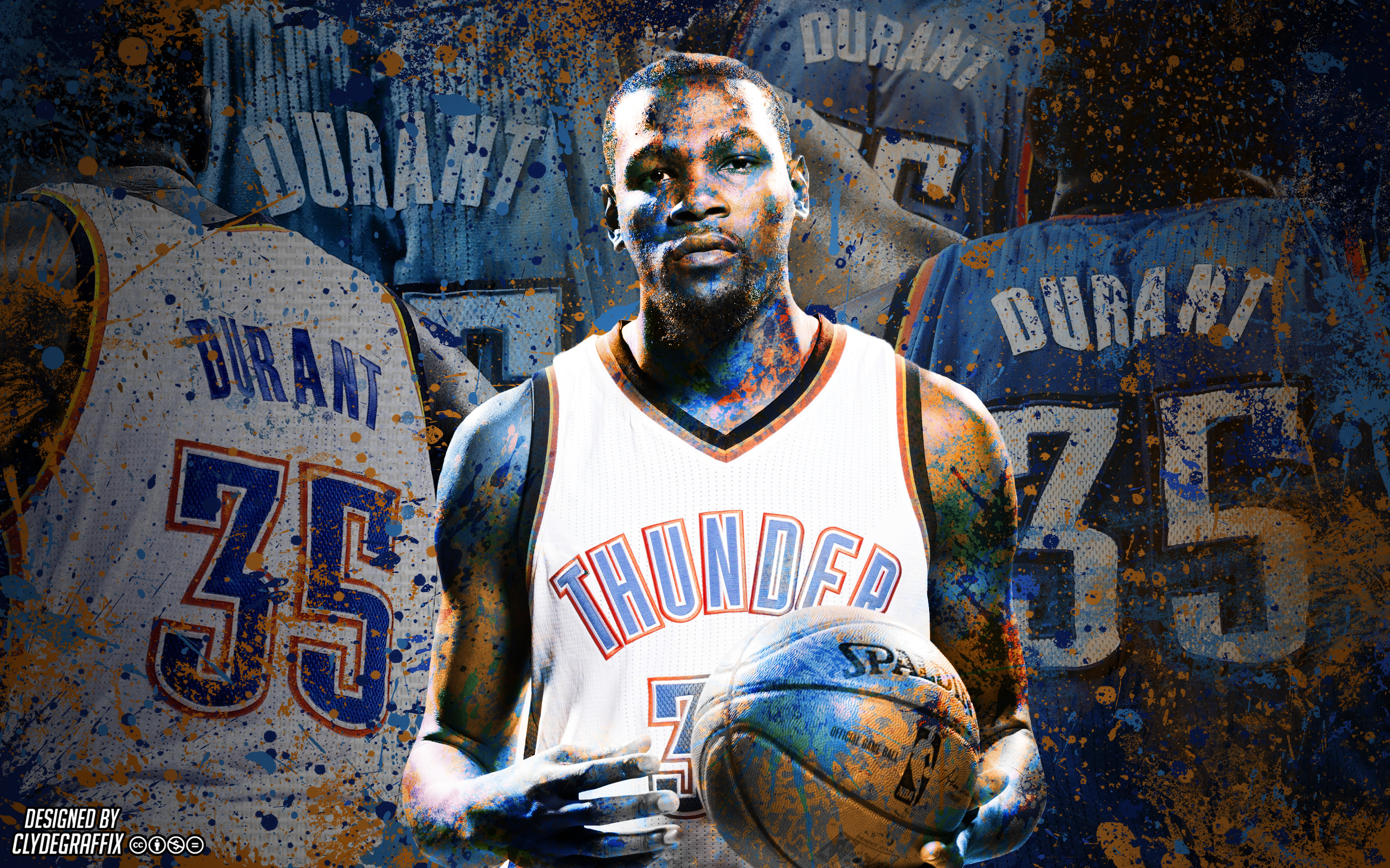 2880x1800 ... Kevin Durant Painted Wallpaper by ClydeGraffix on DeviantArt