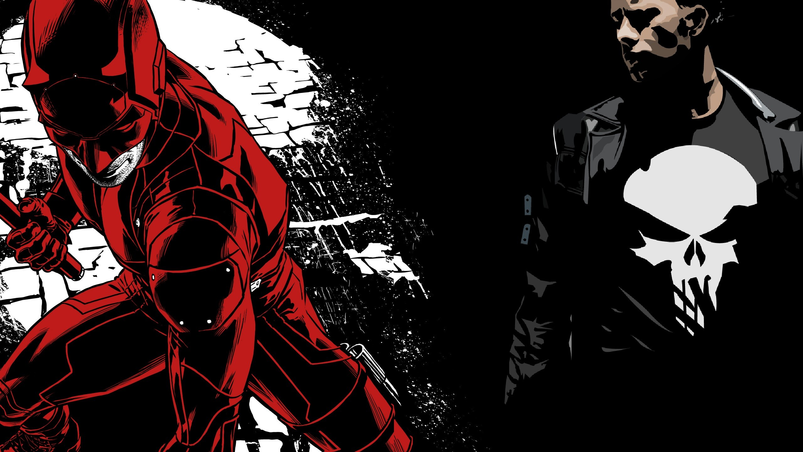 2560x1440 Daredevil & Punisher Wallpapers