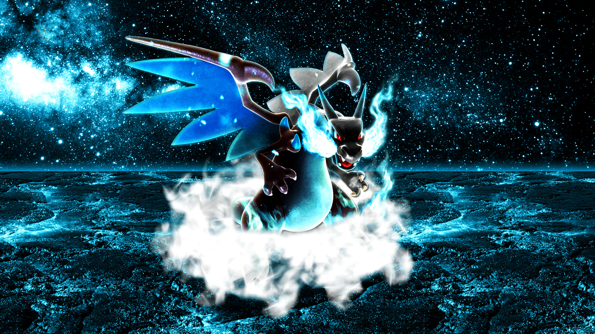 1920x1080 Mega Charizard X Wallpaper 2 by Glench