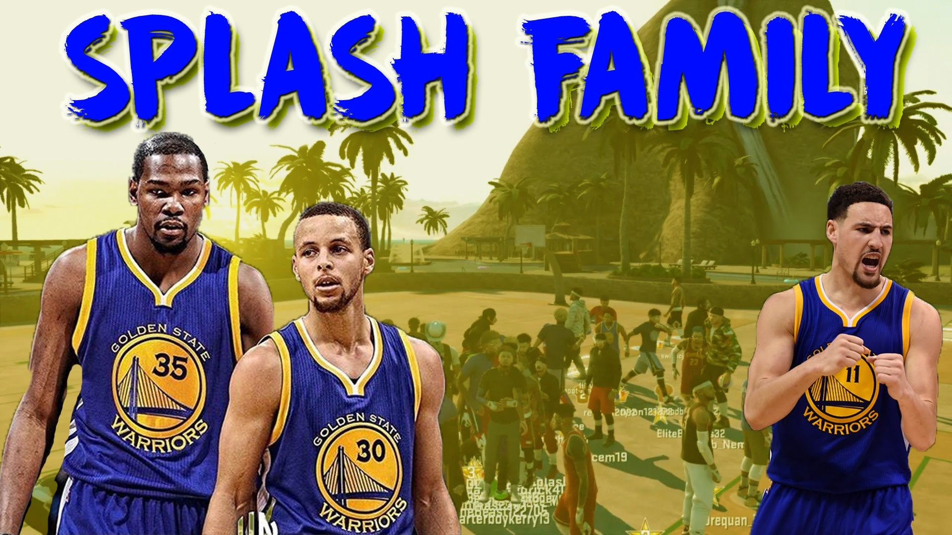 1920x1080 Klay Thompson & Kevin Durant now being called the Splash Family ( 18  Straight 3 Pointers made ) - DJ Gilli aka DJ Kris Gill