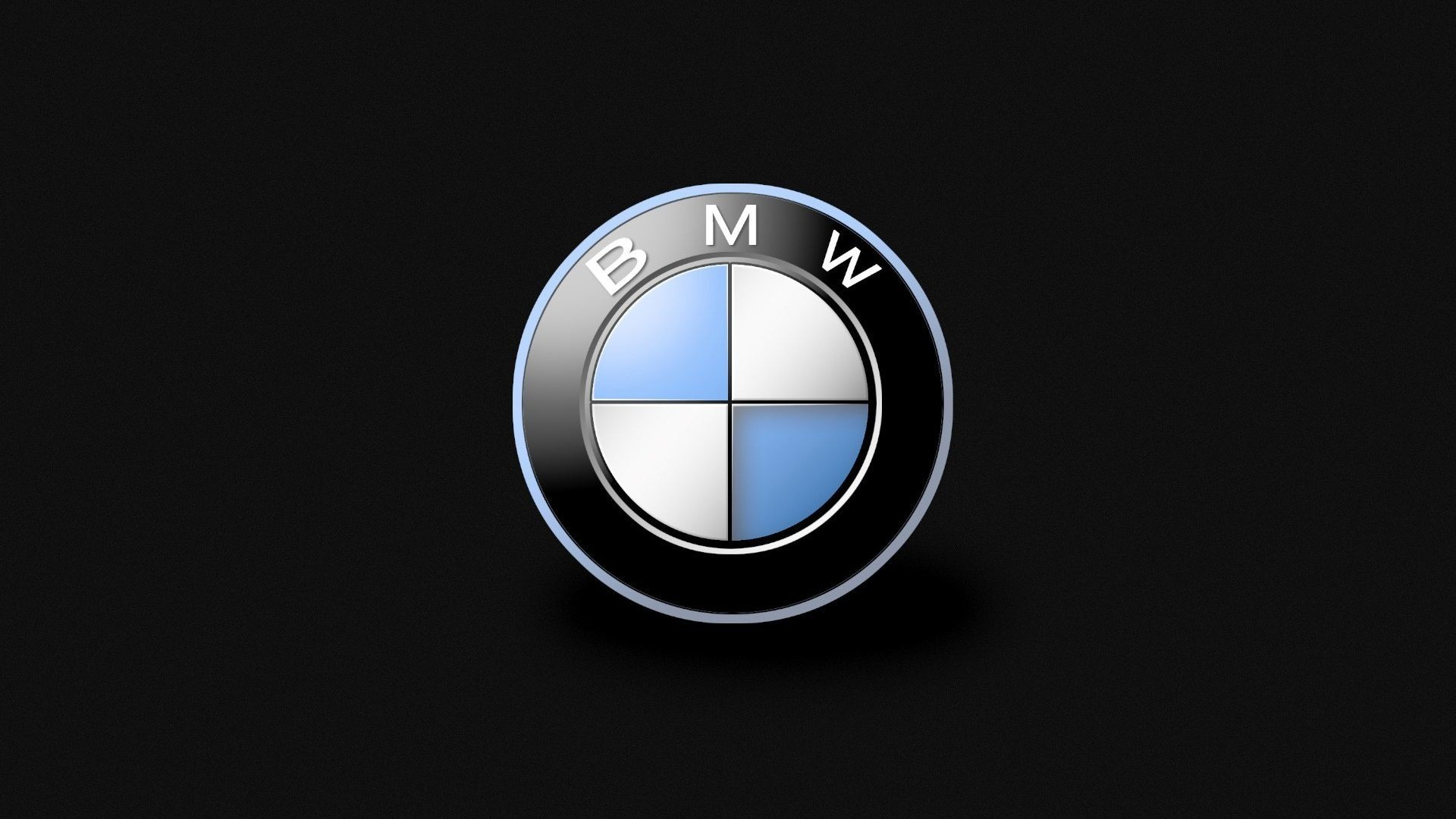 1920x1080 BMW Car Brand Logo and Black Background