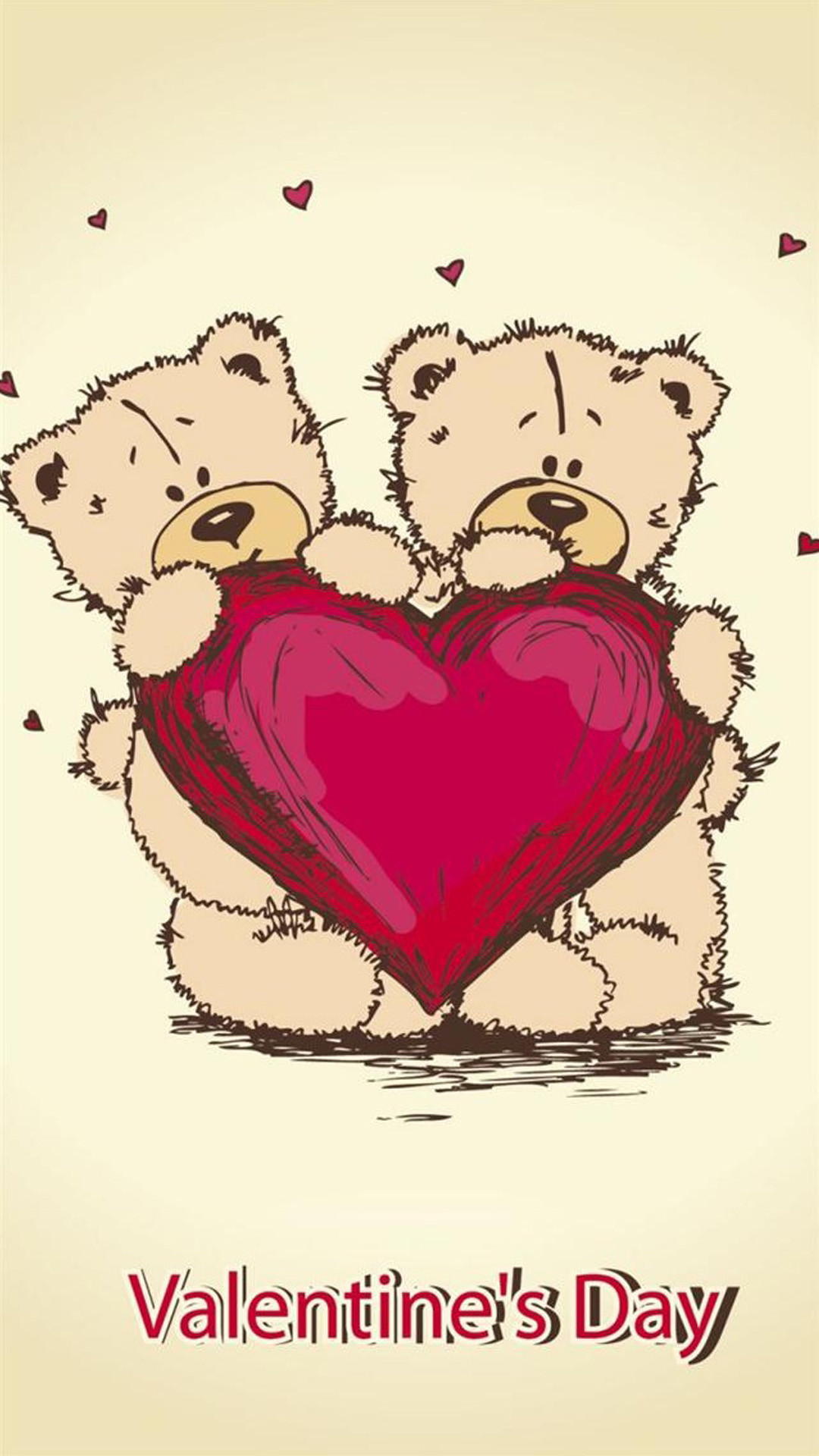 1080x1920 Valentines Day Teddybears iPhone 6 Plus HD Wallpaper ...