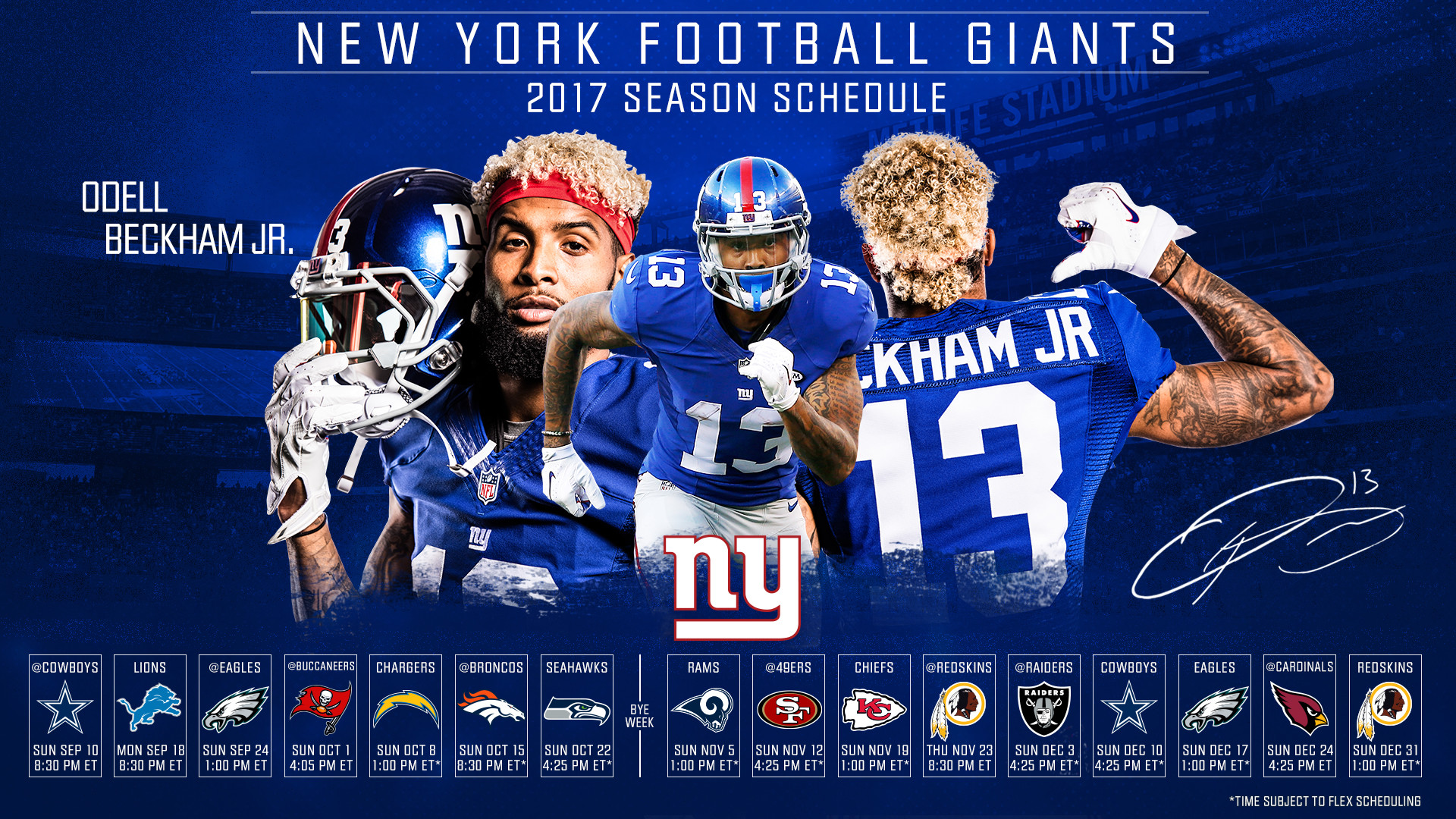 1920x1080 Click one of the thumbnails below to download the New York Giants 2017  schedule desktop wallpaper. For desktop wallpapers, right-click on the  image and ...