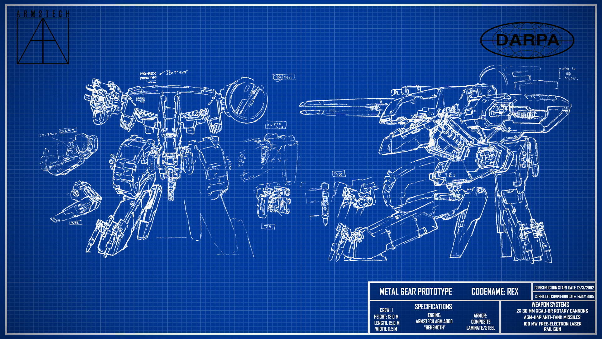 1920x1080 for metal gear solid fans made rex blueprint wallpaper enjoy. for metal  gear solid fans made rex blueprint wallpaper enjoy