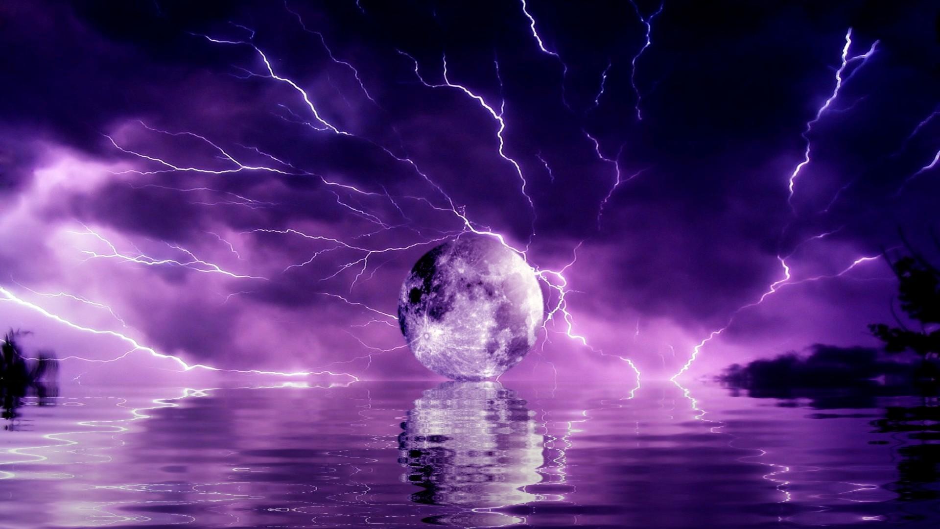 Purple Wallpapers 12 Best Wallpapers Collection Desktop: Thunderstorm Screensavers Wallpapers (64+ Images