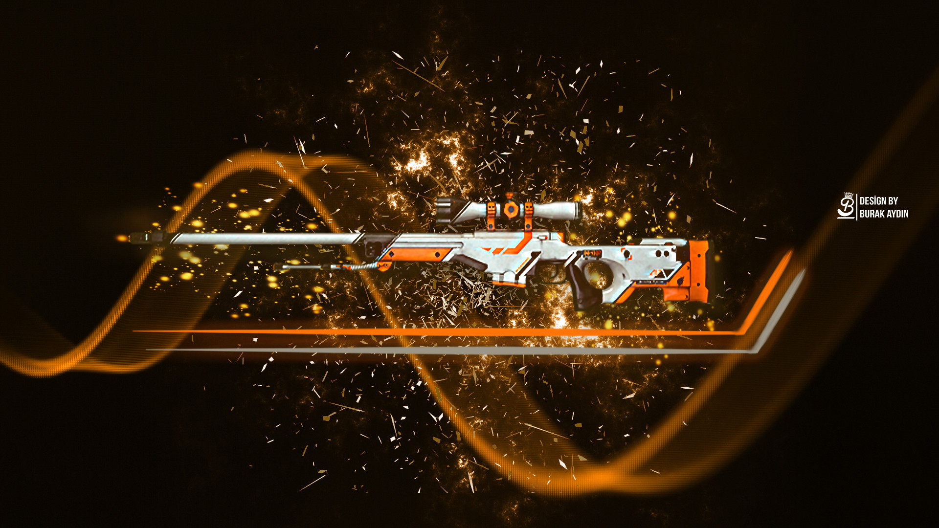 1920x1080 ... CS:GO - Asiimov AWP HD Wallpaper by BurakAydnz