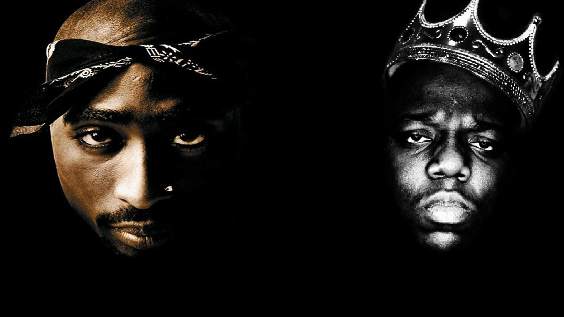1920x1080 TUPAC BIGGIE SMALLS gangsta rapper rap hip hop f wallpaper |  .